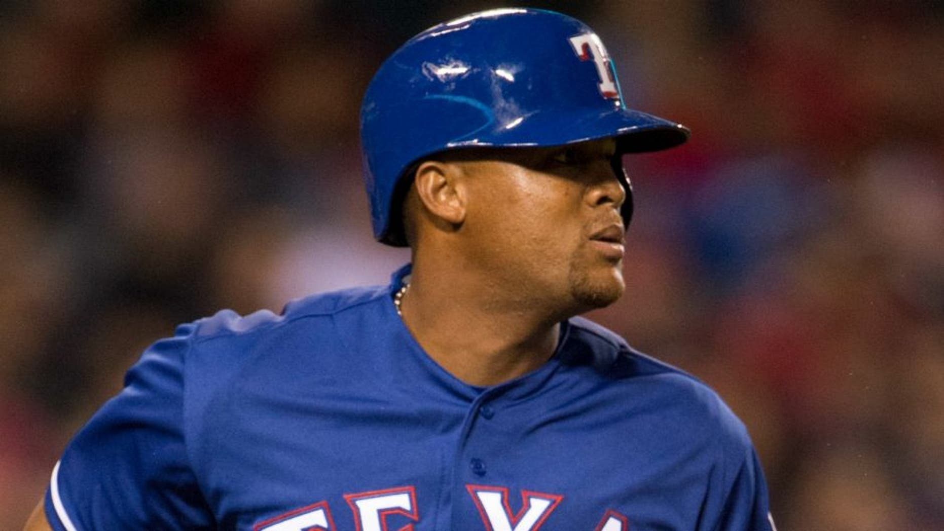 ANAHEIM, CA - APRIL 7: Adrian Beltre #29 of the Texas Rangers runs during the game against the Los Angeles Angels of Anaheim at Angel Stadium of Anaheim on April 7, 2016 in Anaheim, California. (Photo by Matt Brown/Angels Baseball LP/Getty Images)