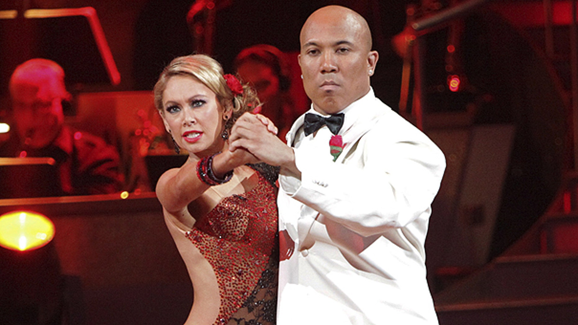 May 2: In this publicity image released by ABC, Hines Ward, right, and his partner Kym Johnson perform on the celebrity dance competition series 'Dancing with the Stars' in Los Angeles.