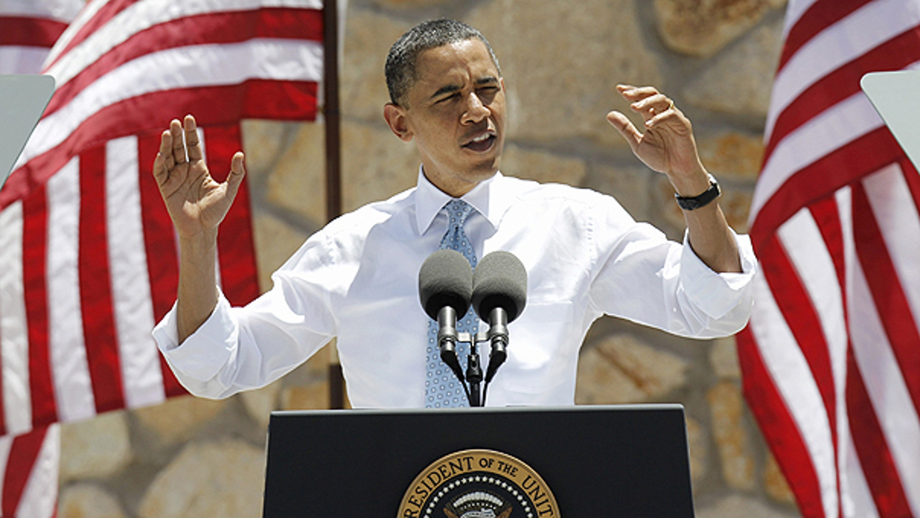 May 10: President Obama gestures while speaking about immigration reform in El Paso, Texas. With a re-election campaign looming, Obama is pushing Congress to overhaul the immigration system, but lawmakers seems to have little appetite to take on the issue.