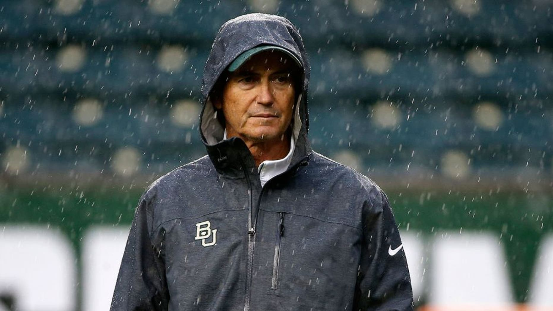 WACO, TX - OCTOBER 24: Baylor Bears head coach Art Briles watches his team before the Iowa State Cyclones take on the Baylor Bears at McLane Stadium on October 24, 2015 in Waco, Texas. (Photo by Ron Jenkins/Getty Images)