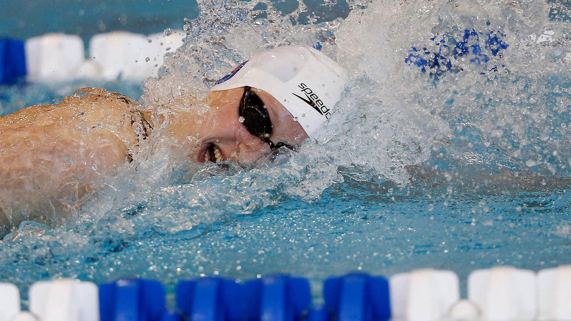 May 13, 2016: Katie Ledecky competes in the 200 meter freestyle finals at the Atlanta Classic Swim Meet at Georgia Tech in Atlanta.