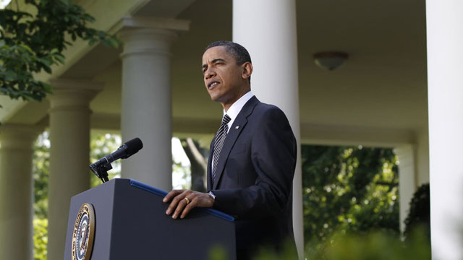 May 20: President Obama makes a statement on financial reform and Wall Street in the Rose Garden of the White House in Washington.
