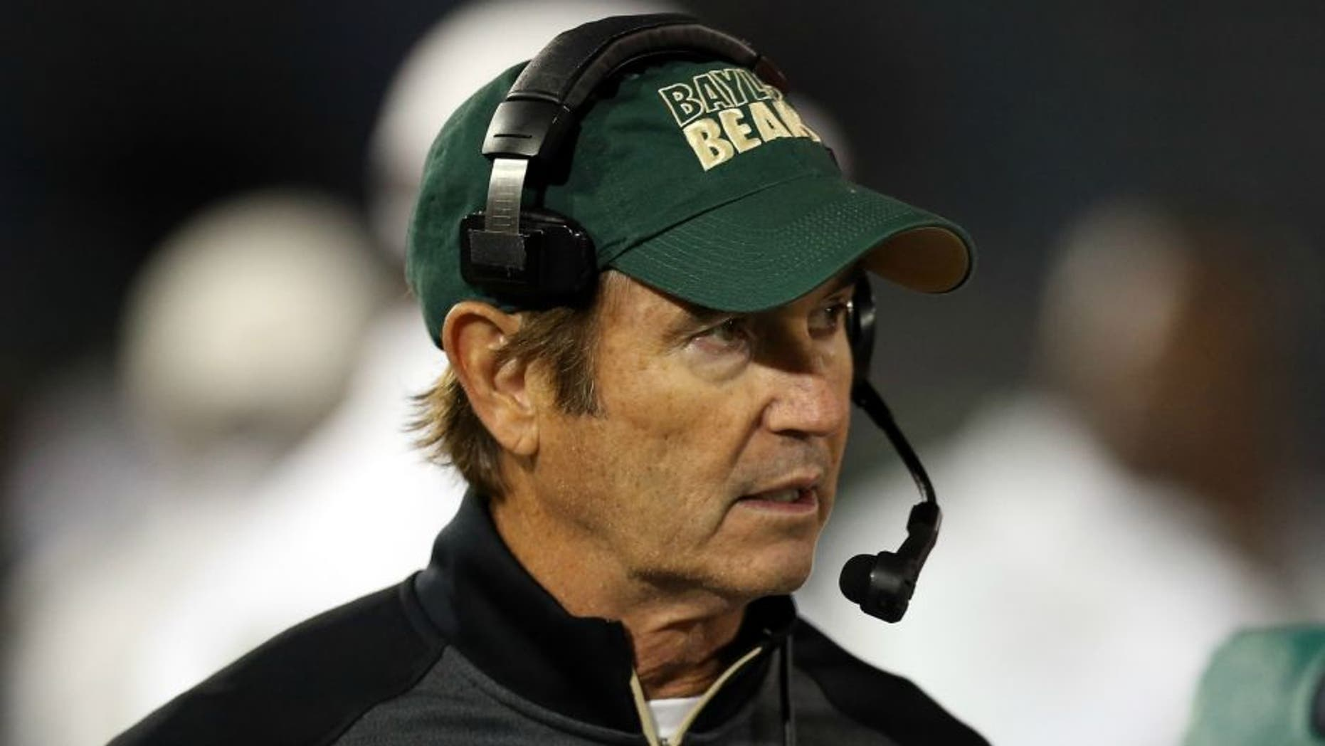 BUFFALO, NY - SEPTEMBER 12: Head Coach Art Briles of the Baylor Bears walks the sideline during the game against the Buffalo Bulls at UB Stadium on September 12, 2014 in Buffalo, New York. (Photo by Vaughn Ridley/Getty Images)