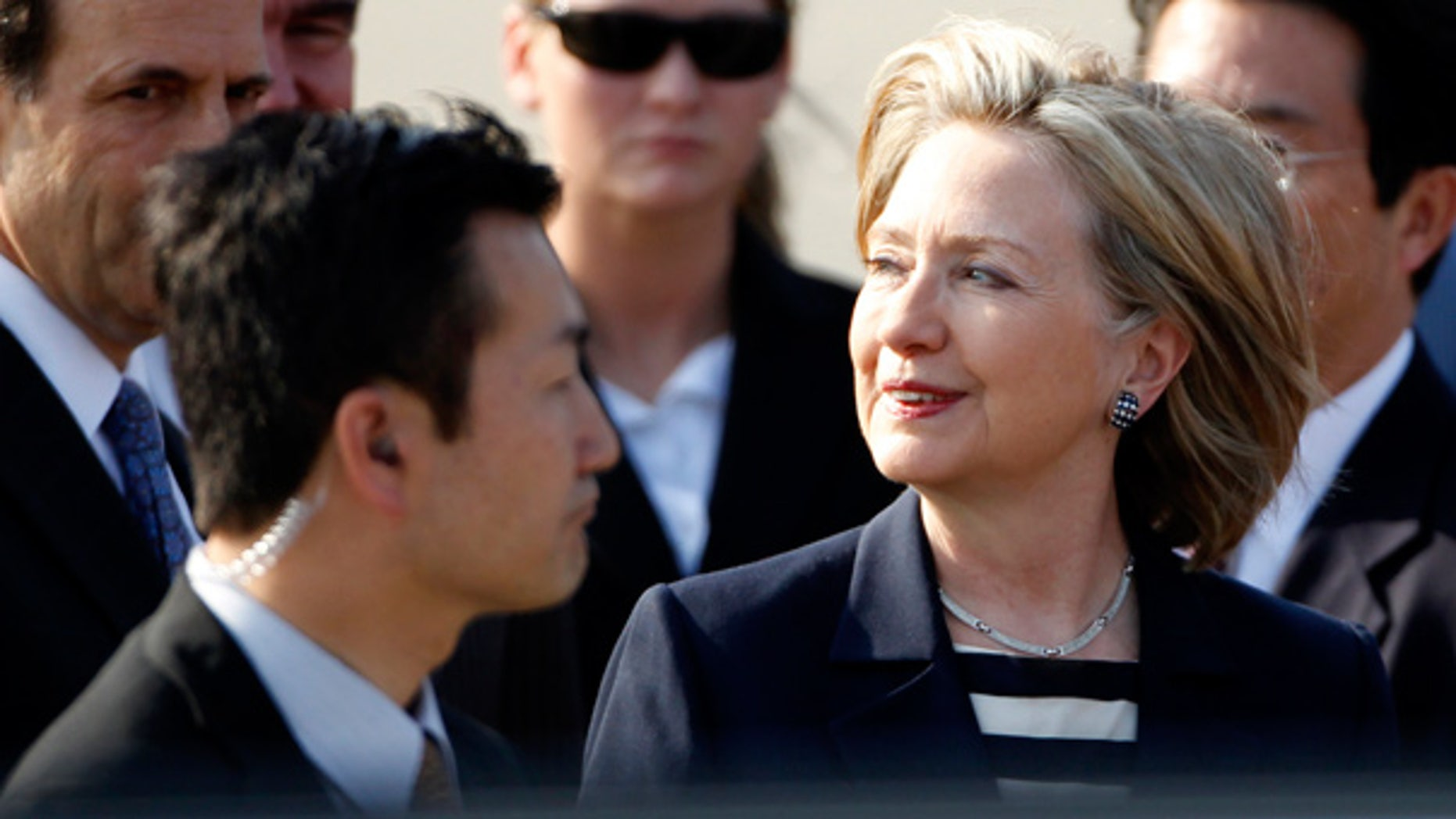 May 21: Secretary of State Hillary Rodham Clinton arrives at Haneda international airport in Tokyo.