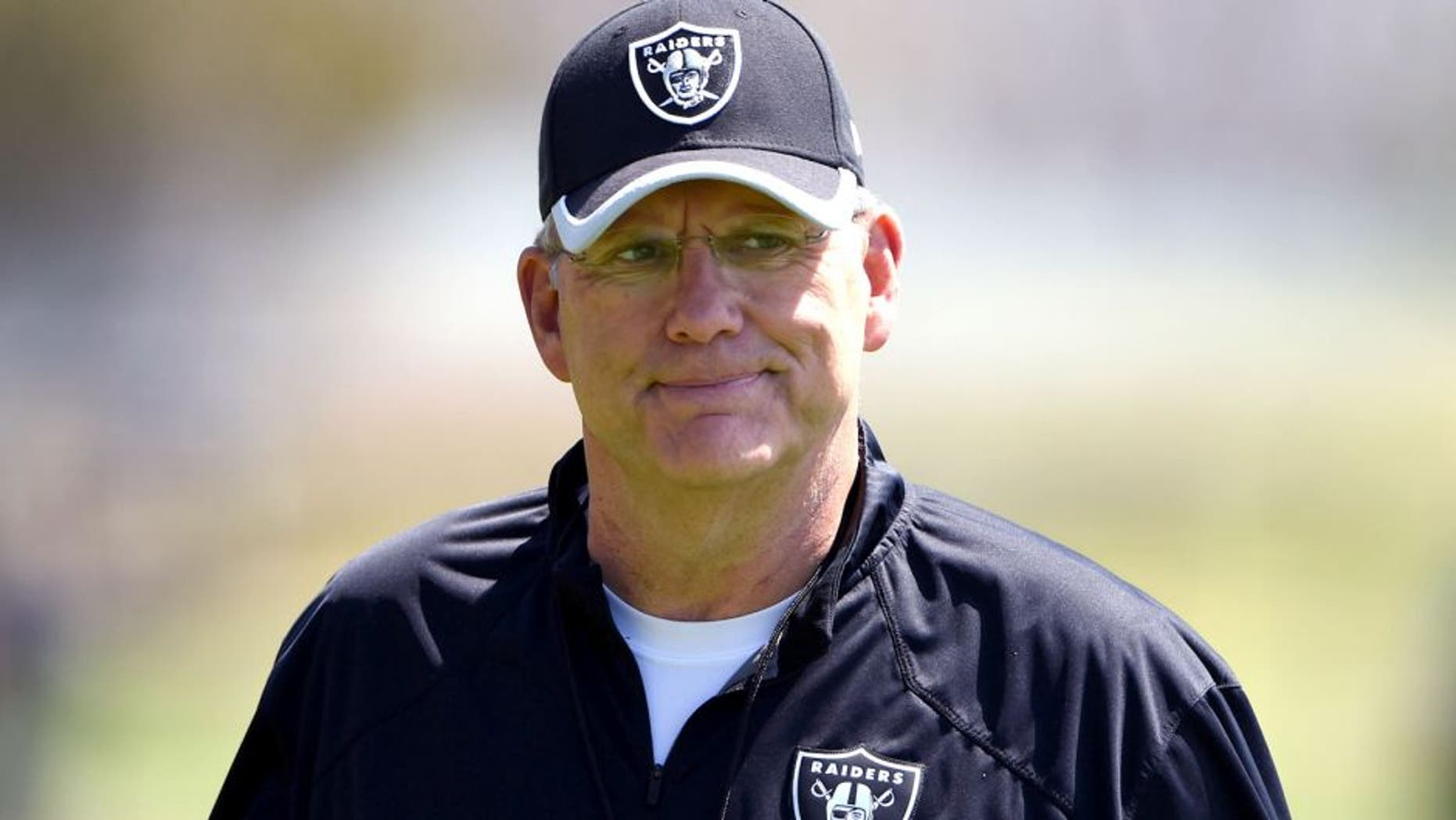 May 8, 2015; Alameda, CA, USA; Oakland Raiders special teams coordinator Brad Seely at rookie minicamp at the Raiders practice facility. Mandatory Credit: Kirby Lee-USA TODAY Sports