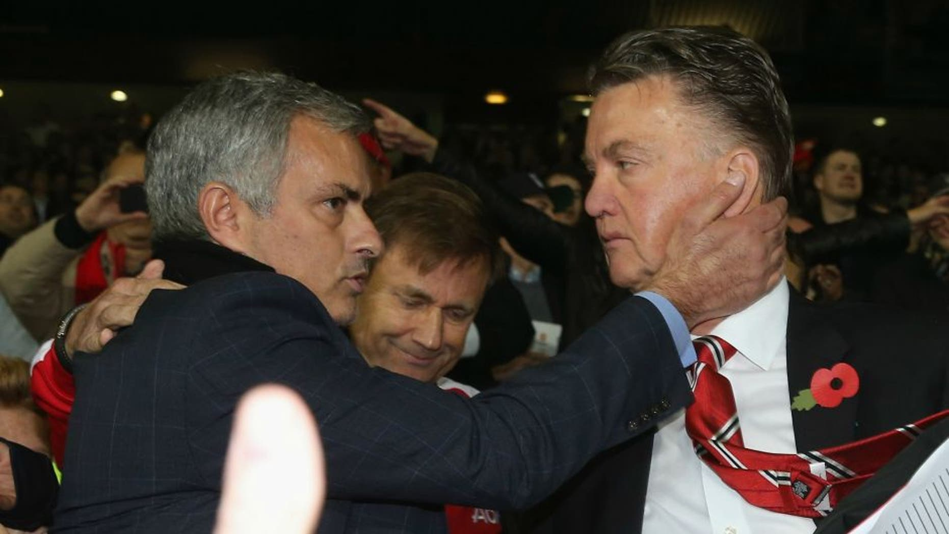 > at Old Trafford on October 26, 2014 in Manchester, England.