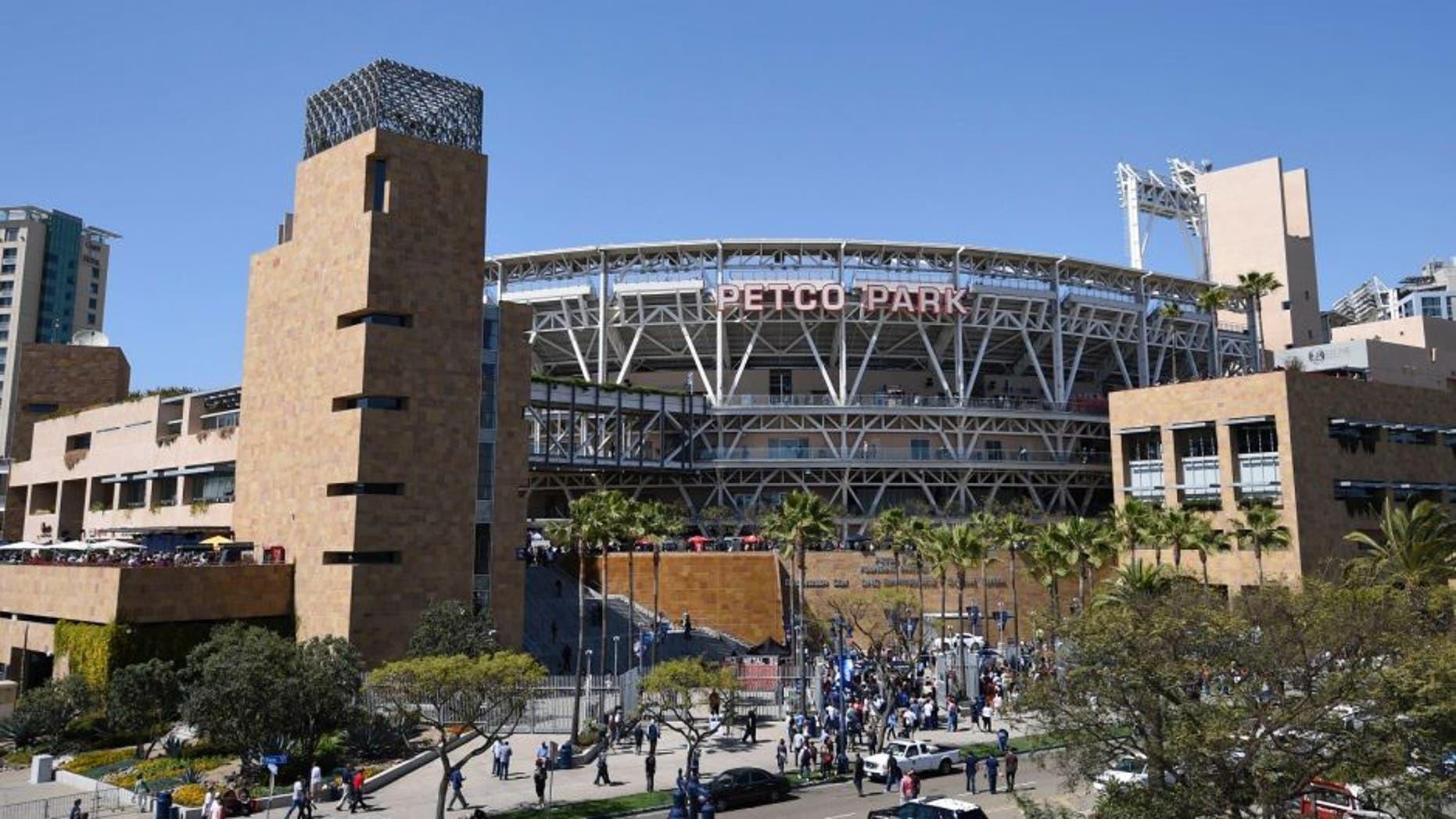 SAN DIEGO, CA - APRIL 9: General view as fans line-up get into Petco Park before the home opener between the San Diego Padres and the San Francisco Giants April 9, 2015 in San Diego, California. (Photo by Denis Poroy/Getty Images)