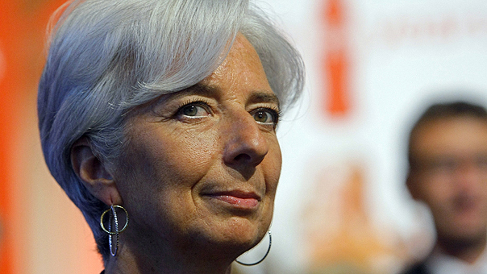 May 24: France's Finance and Economy Minister Christine Lagarde is seen during the ringing of the opening bell at the Paris Euronext opening day.