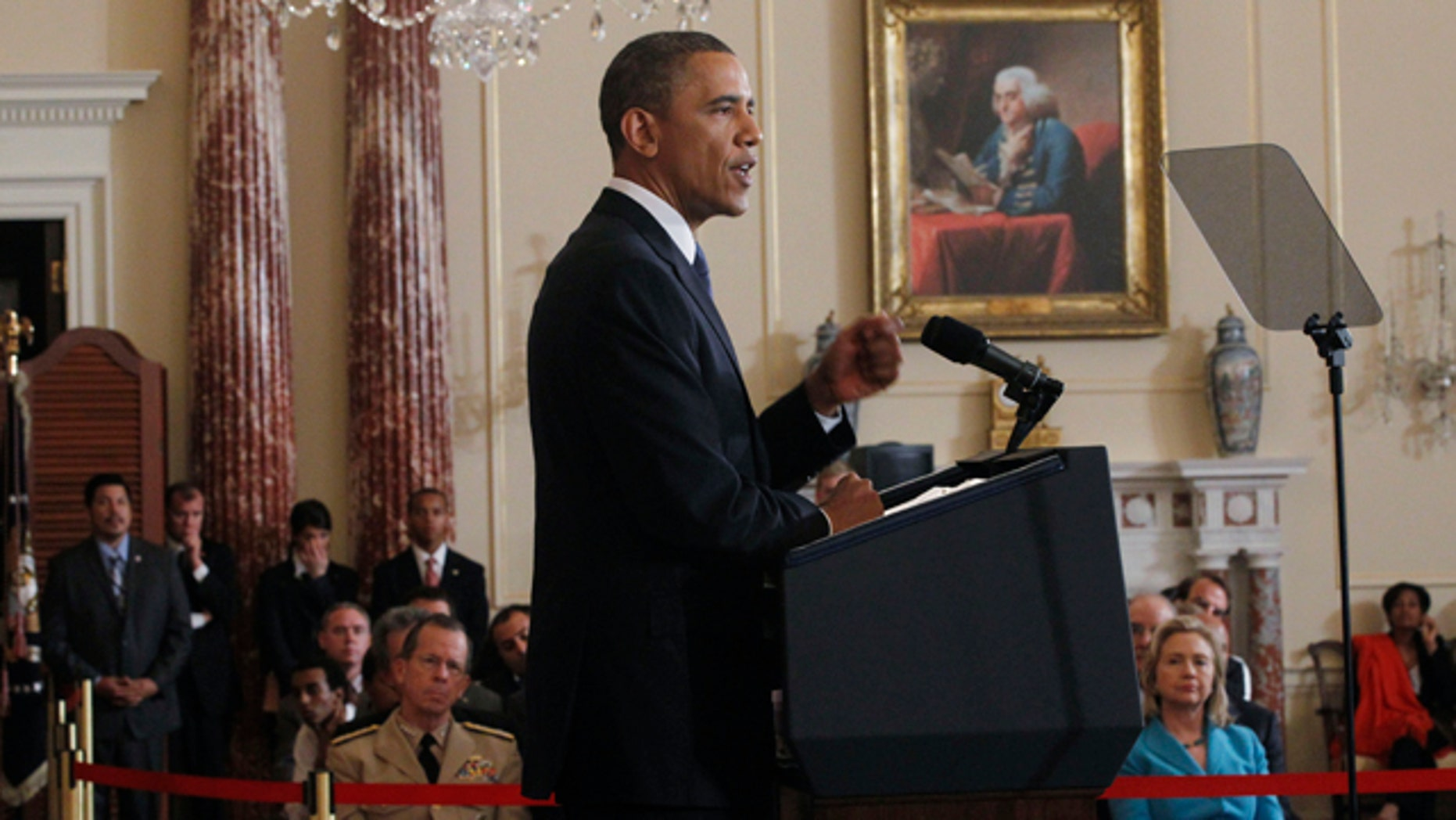 May 19: President Barack Obama delivers his Middle East speech at the State Department in Washington.