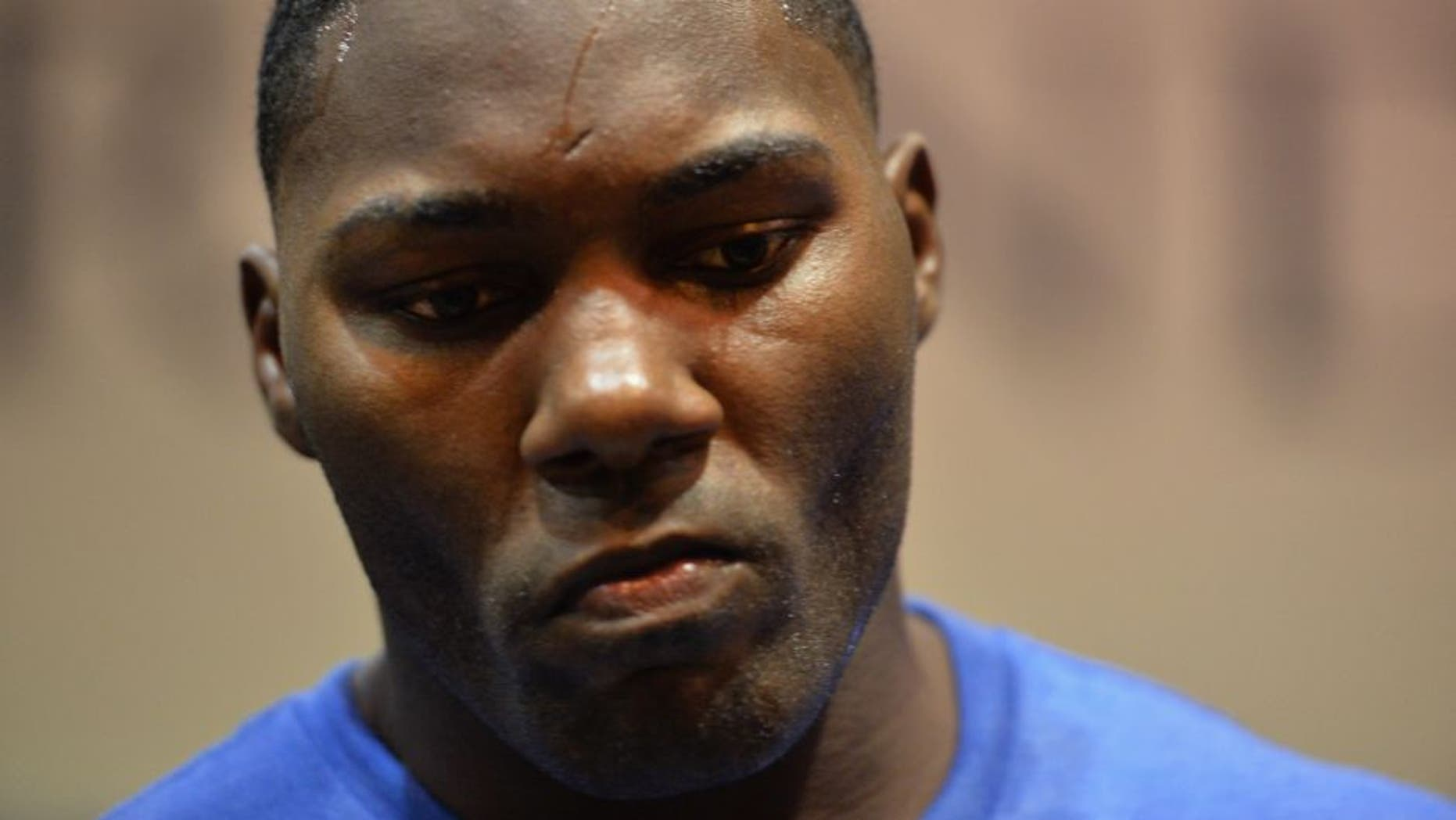 LAS VEGAS, NV - MAY 23: Anthony Johnson backstage during the UFC 187 event at the MGM Grand Garden Arena on May 23, 2015 in Las Vegas, Nevada. (Photo by Mike Roach/Zuffa LLC/Zuffa LLC via Getty Images)