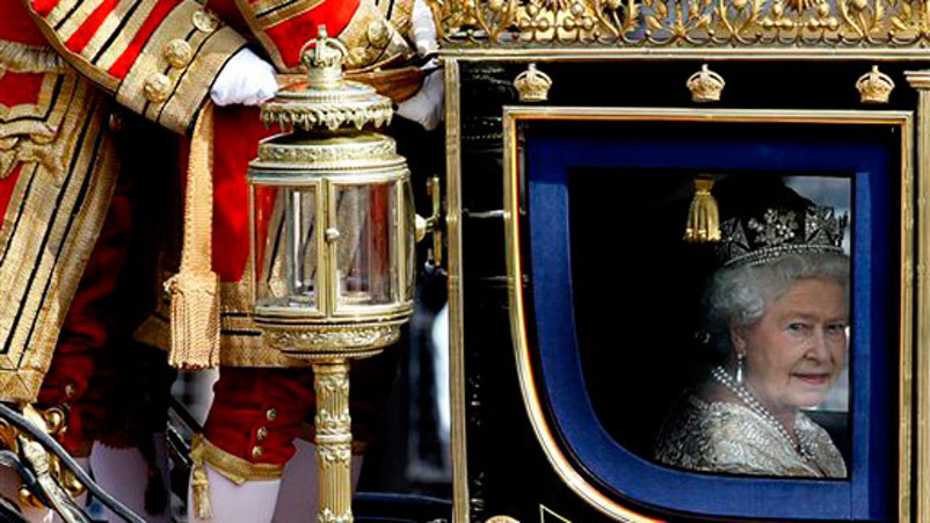 May 25: Britain's Queen Elizabeth II travels in a carriage to the Houses of Parliament in London for the State Opening of parliament