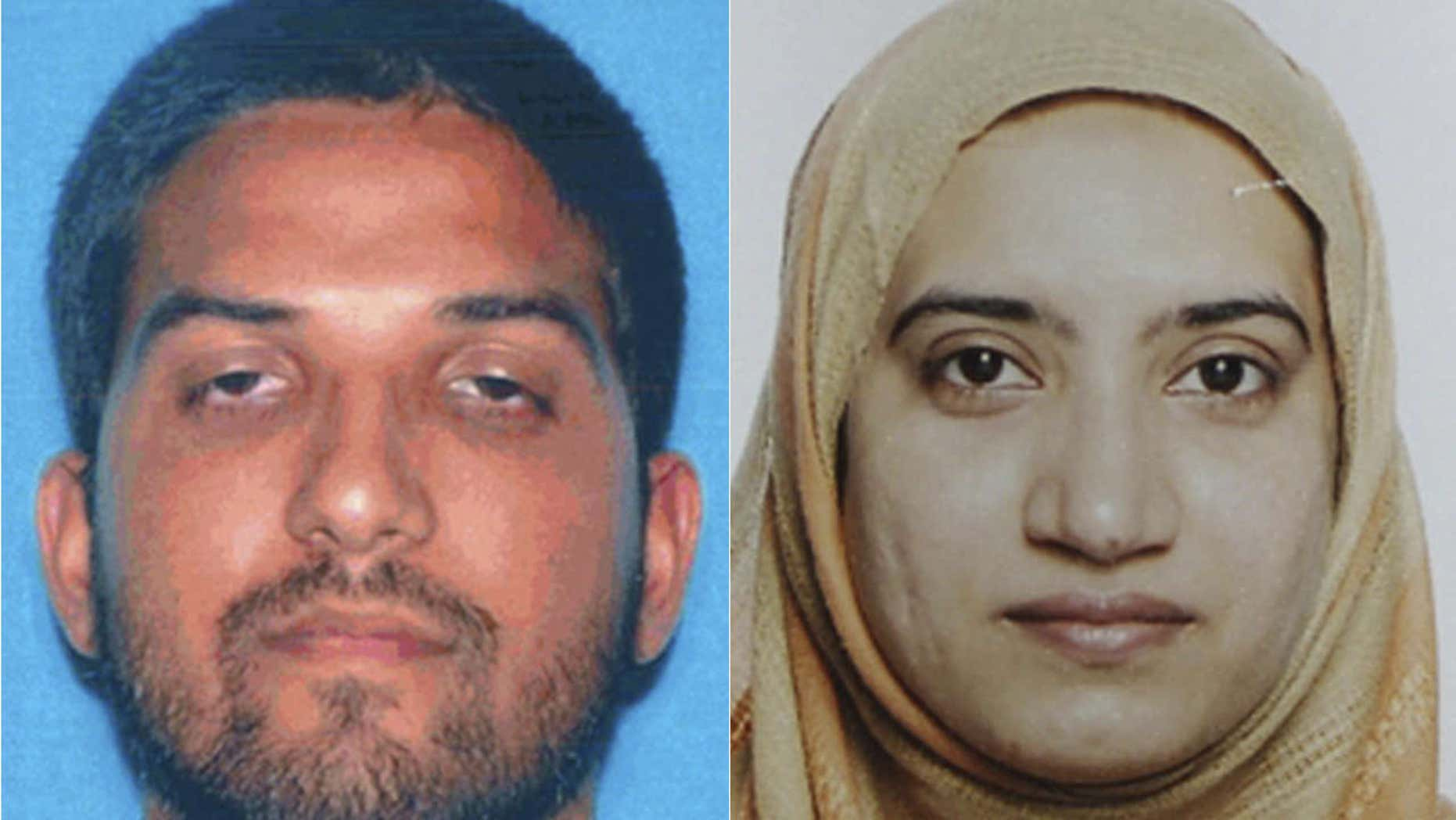 Syed Farook, left, and his wife Tashfeen Malik.