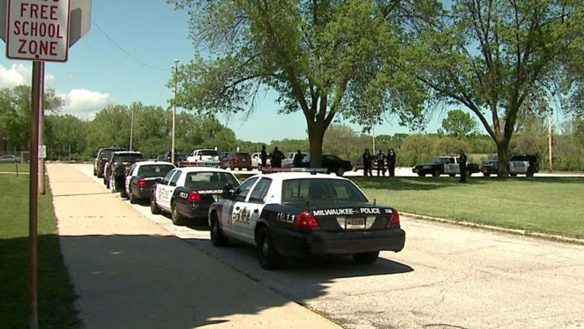 Five people were hurt during a fight between several students at Webster Middle School near 53rd and Green Tree, officials with the Milwaukee Fire Department said.