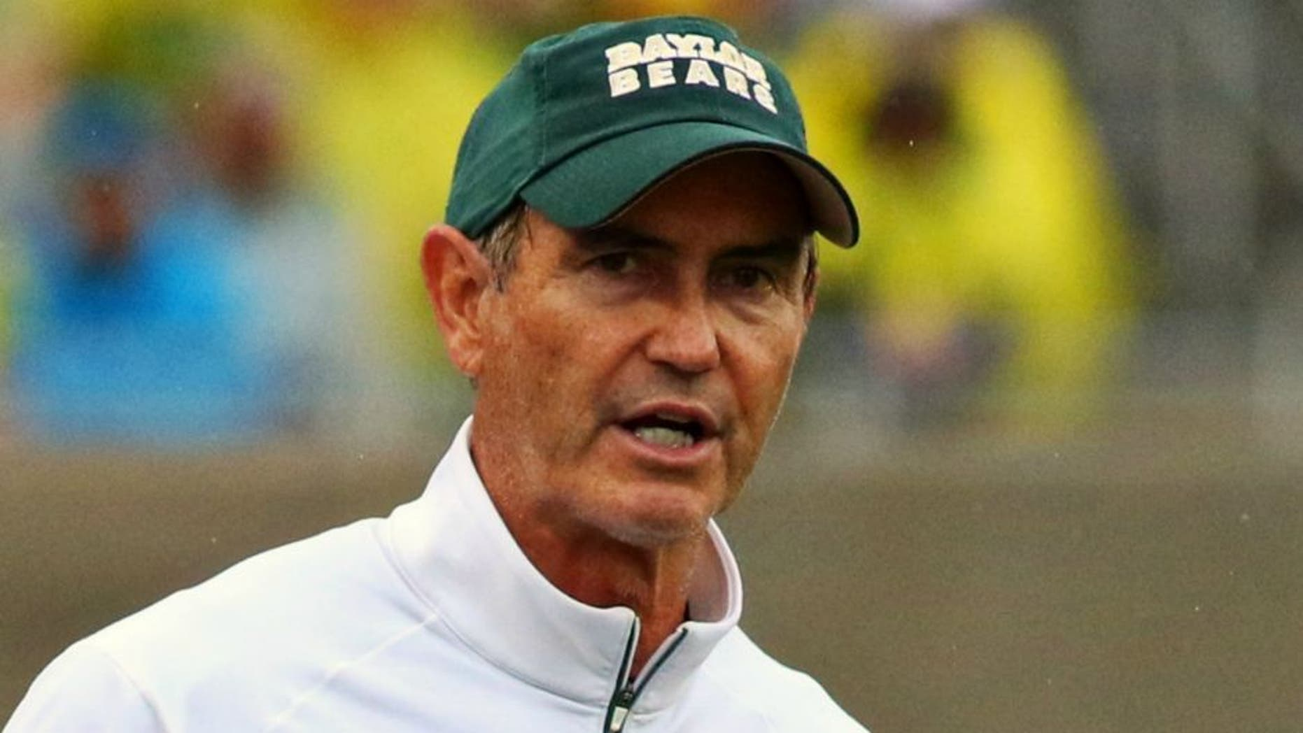 Oct 24, 2015; Waco, TX, USA; Baylor Bears head coach Art Briles against the Iowa State Cyclones during the second half at McLane Stadium. Baylor won 45-27. Mandatory Credit: Ray Carlin-USA TODAY Sports