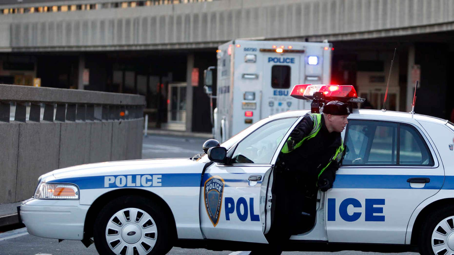 Part of Terminal A at Newark International Airport was evacuated Saturday after a pressure cooker was discovered, police said.