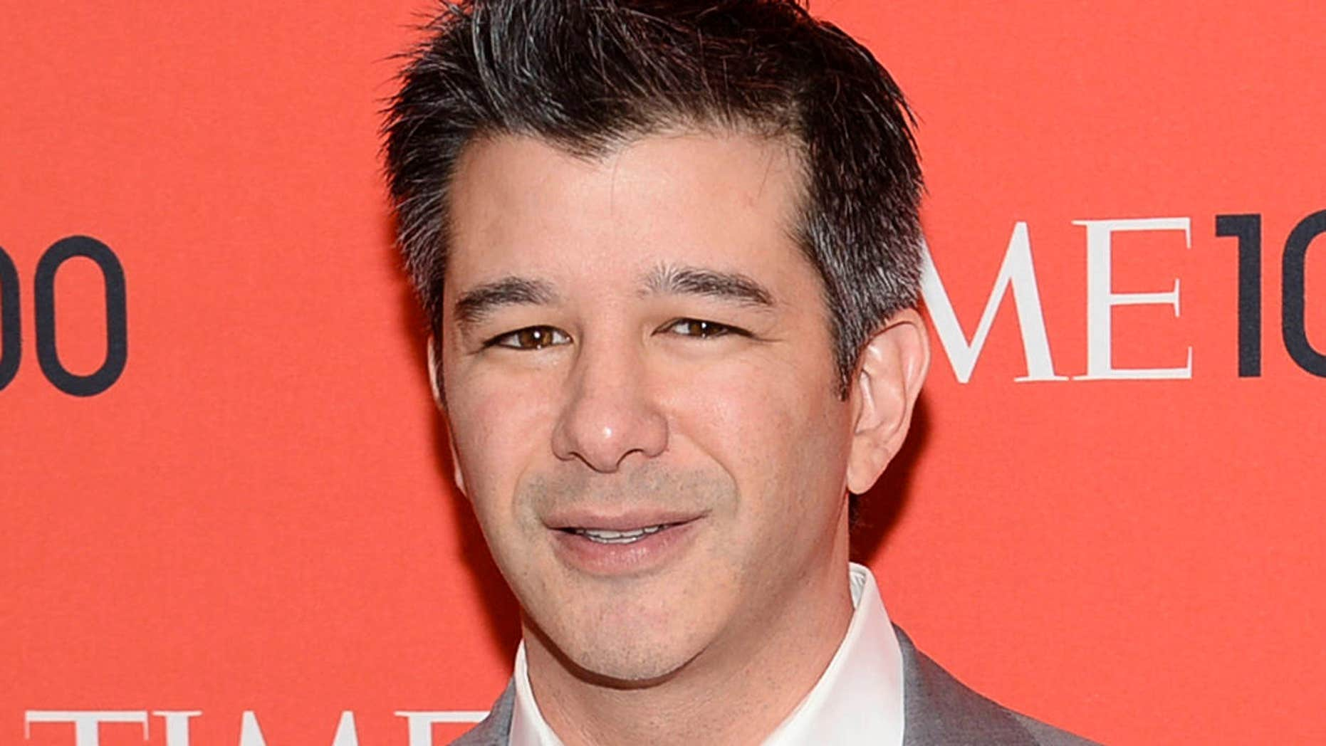FILE - In this April 29, 2014 file photo, Uber CEO Travis Kalanick arrives at the 2014 TIME 100 Gala in New York.