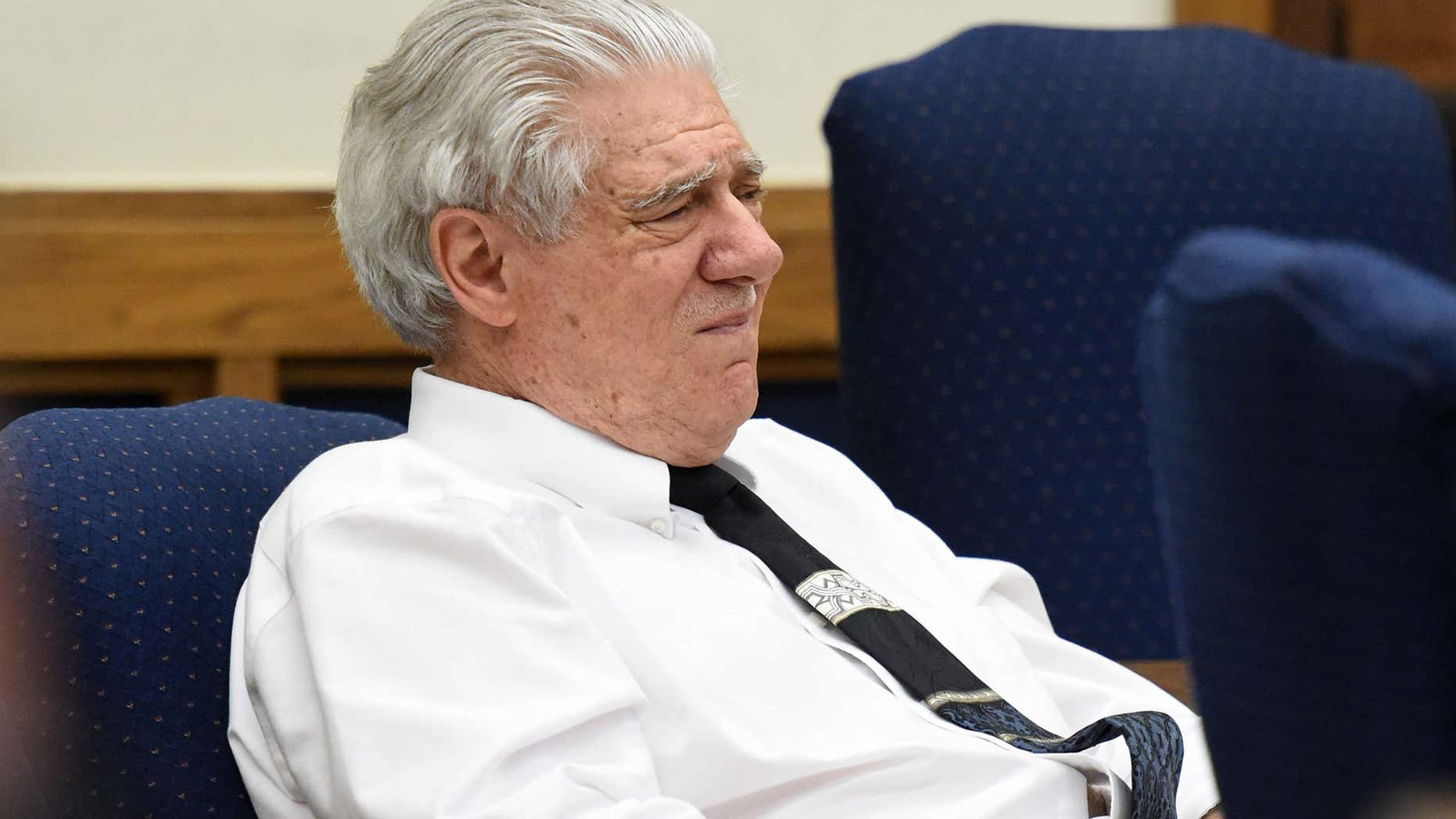 May 27, 2015: In this file photo, Wayne Burgarello listens as a witness takes the stand at the Washoe County District Court, in Reno, Nev.