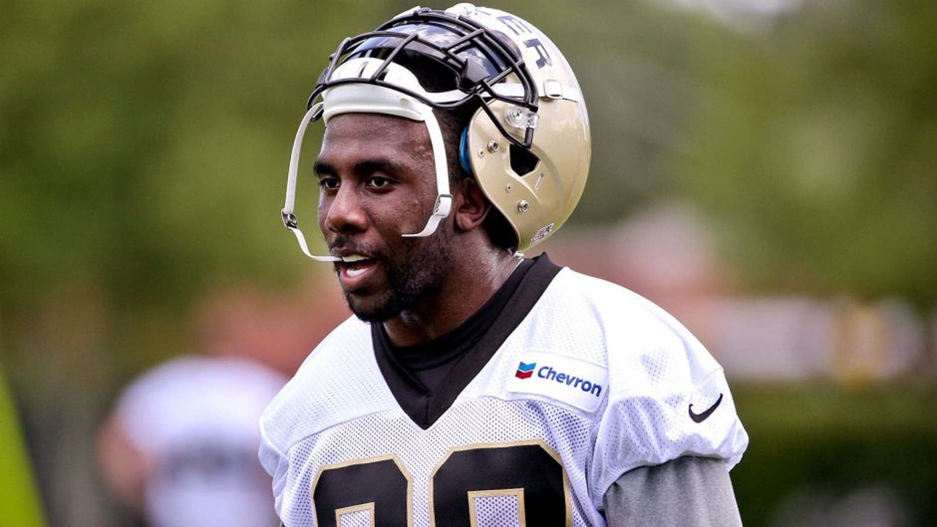 May 28, 2015; New Orleans, LA, USA; New Orleans Saints running back C.J. Spiller (28) during organized team activities at the New Orleans Saints Training Facility. Mandatory Credit: Derick E. Hingle-USA TODAY Sports