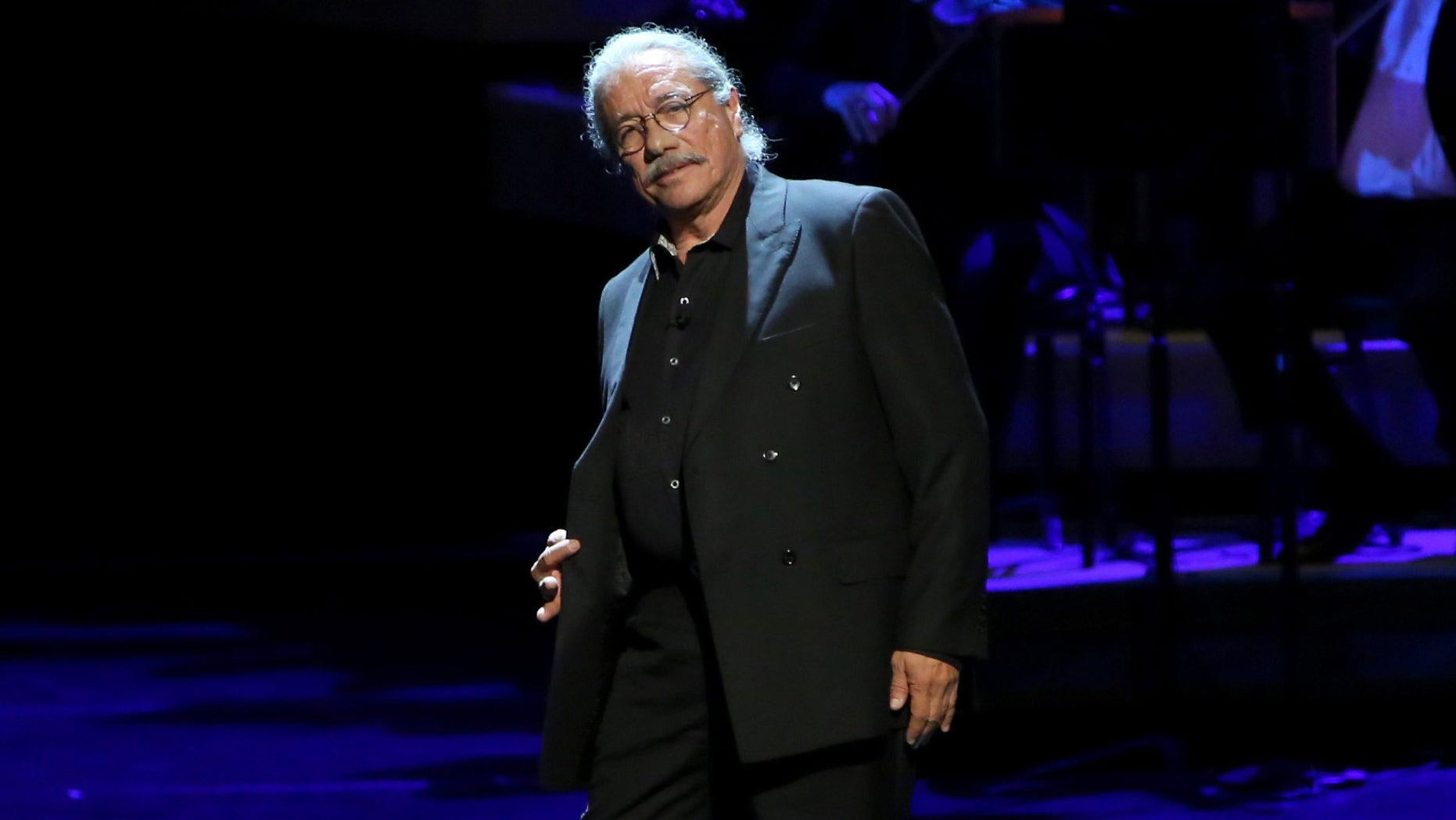 LOS ANGELES, CA - DECEMBER 06:  Actor Edward James Olmos performs onstage during The Music Center's 50th Anniversary Spectacular at The Music Center on December 6, 2014 in Los Angeles, California.  (Photo by Jonathan Leibson/Getty Images for The Music Center)