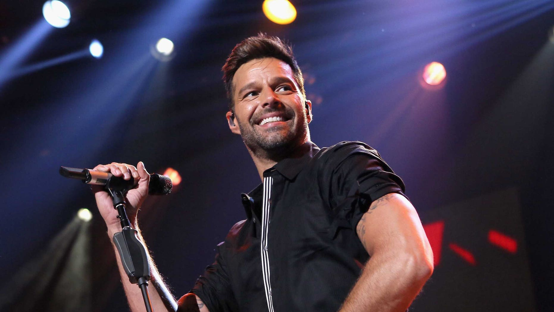Ricky Martin at the iHeartRadio Theater Los Angeles on February 10, 2015 in Burbank, California.