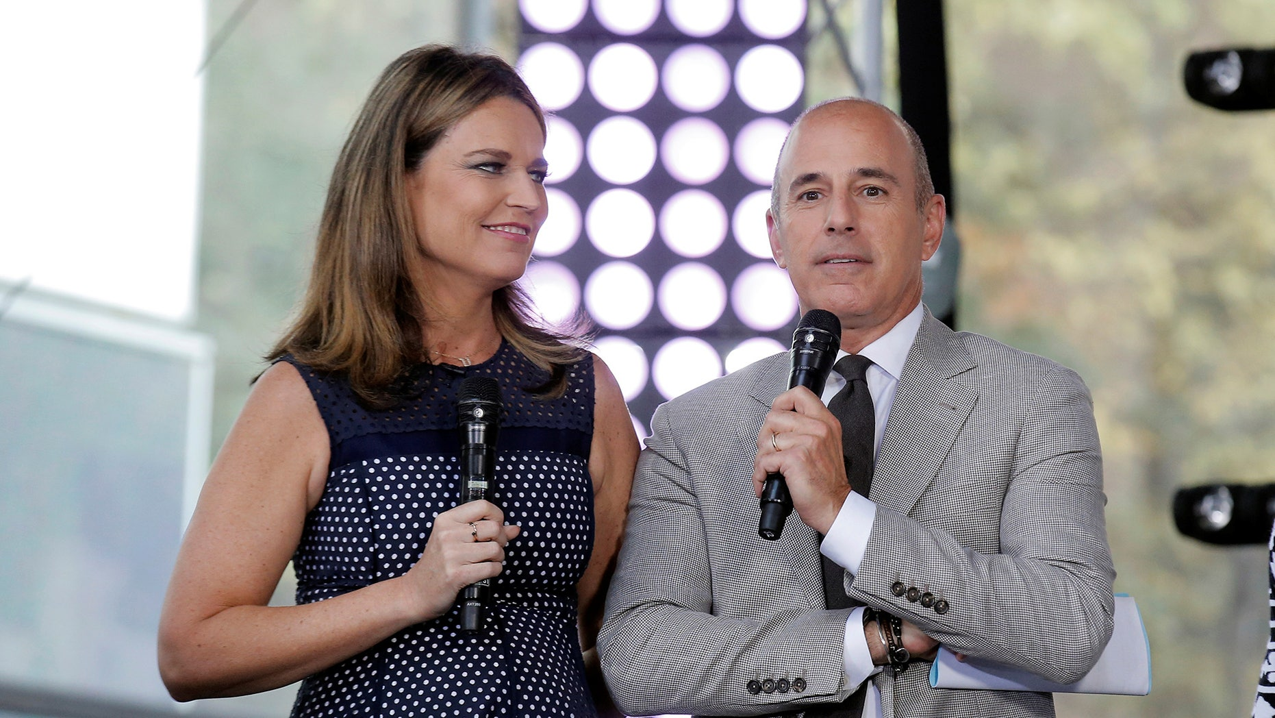 Savannah Guthrie and Matt Lauer in August 2016.