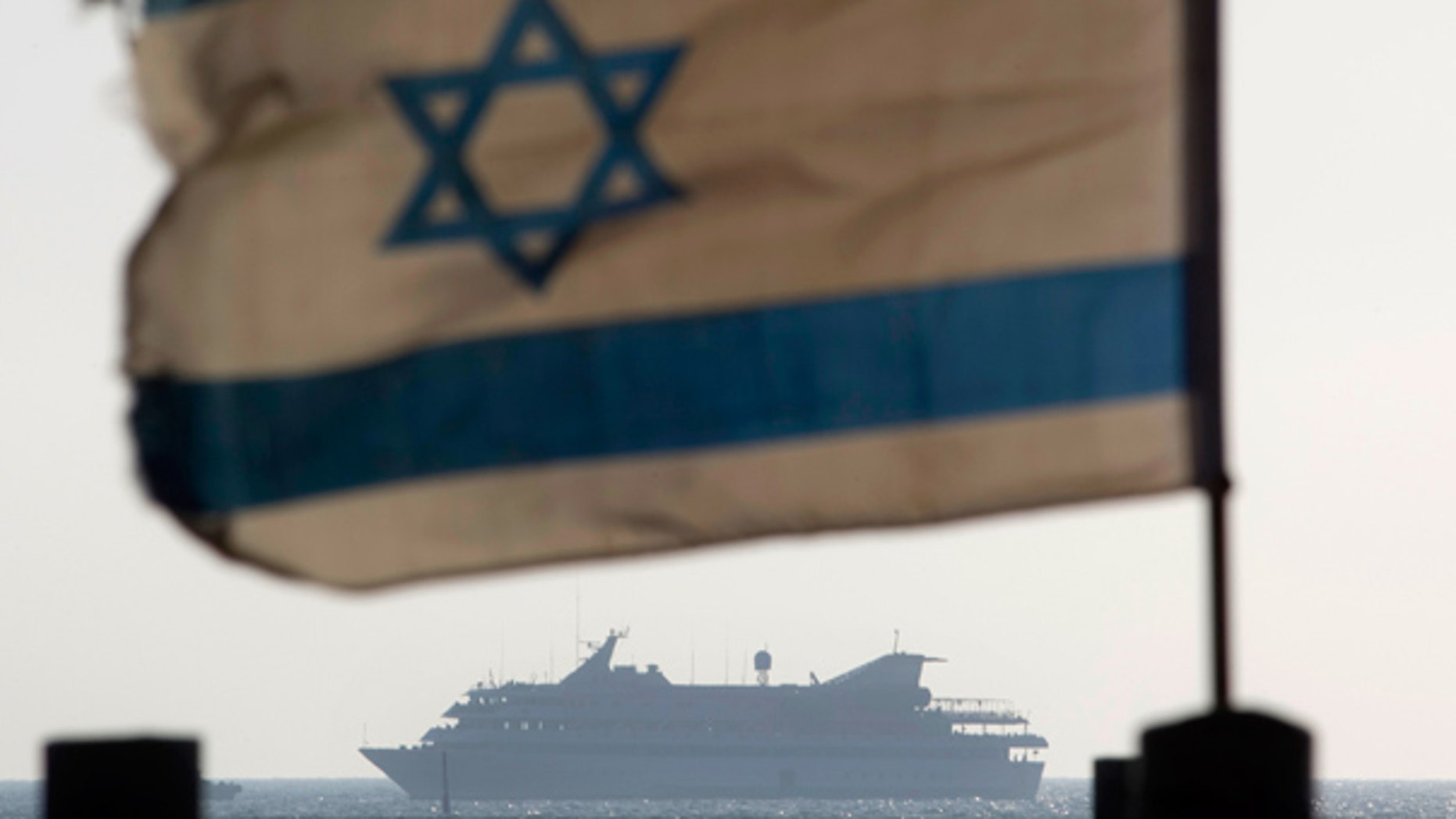 May 31: The Mavi Marmara ship, the lead boat of a flotilla headed to the Gaza Strip which was stormed by Israeli naval commandos, sails into the port of Ashdod, Israel.