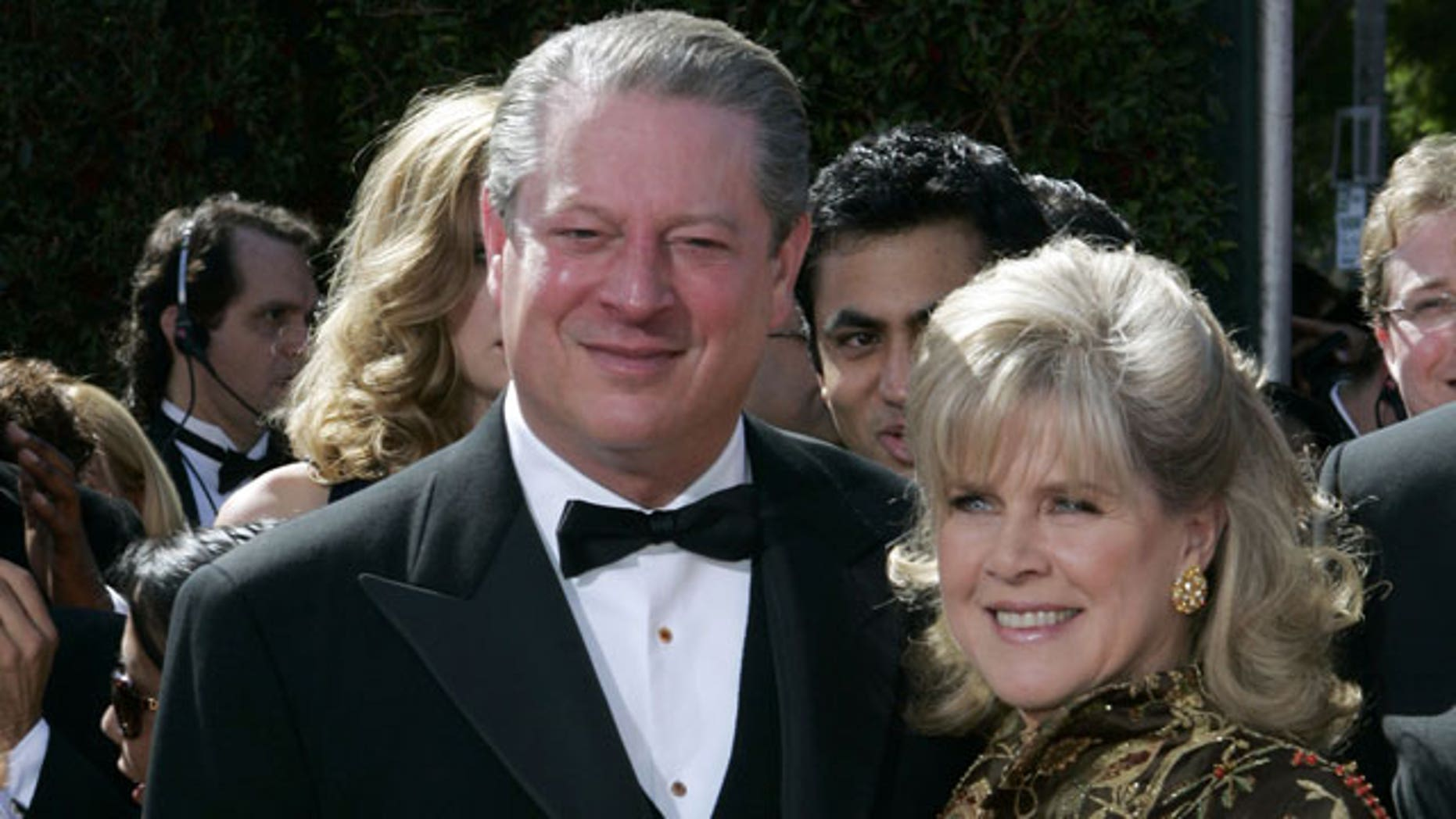 In this Sept. 16, 2007 file photo, former Vice President Al Gore and his wife, Tipper Gore arrive for the 59th Primetime Emmy Awards at the Shrine Auditorium in Los Angeles.