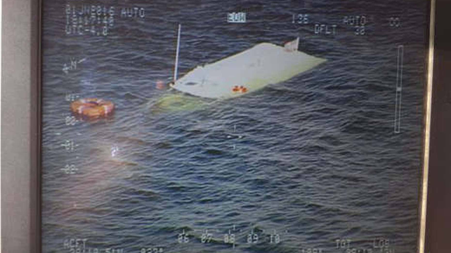 Images of the sunken vessel off Bloodsworth Island.
