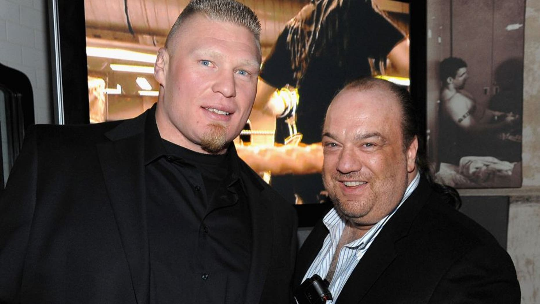 NEW YORK - MARCH 26: Brock Lesner UFC Heavyweight Champion and Paul Heyman attend the UFC 111 party at 632 Hudson on March 26, 2010 in New York City. (Photo by Jamie McCarthy/WireImage for City Publicity) *** Local Caption ***