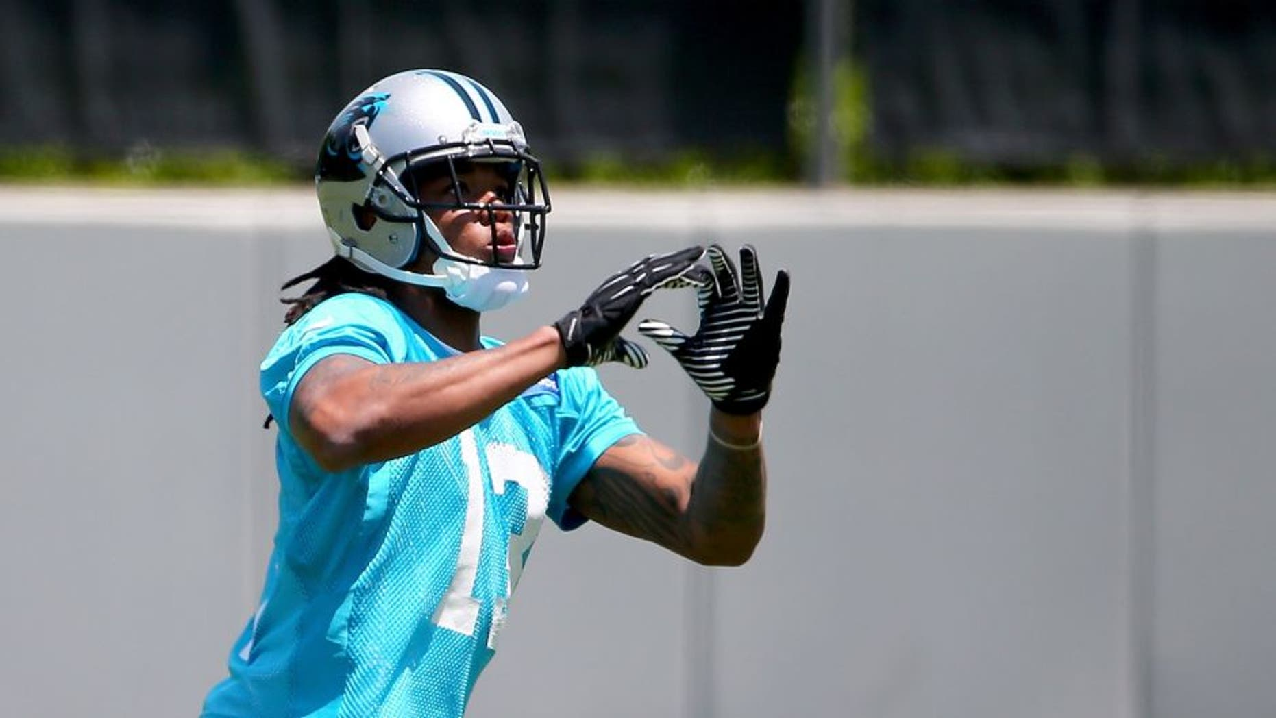 CHARLOTTE, NC - MAY 17: Kelvin Benjamin #13 of the Carolina Panthers during the Carolina Panthers Rookie Minicamp at Bank of America Stadium on May 17, 2014 in Charlotte, North Carolina. (Photo by Streeter Lecka/Getty Images)