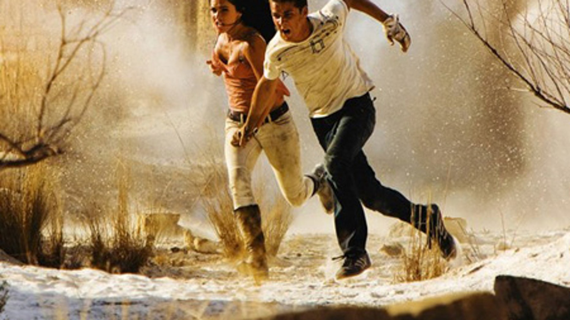 """Actors Megan Fox (L) and Shia LaBeouf are shown in a scene from the Paramount Pictures film """"Transformers: Revenge of the Fallen"""" in this  publicity photo."""