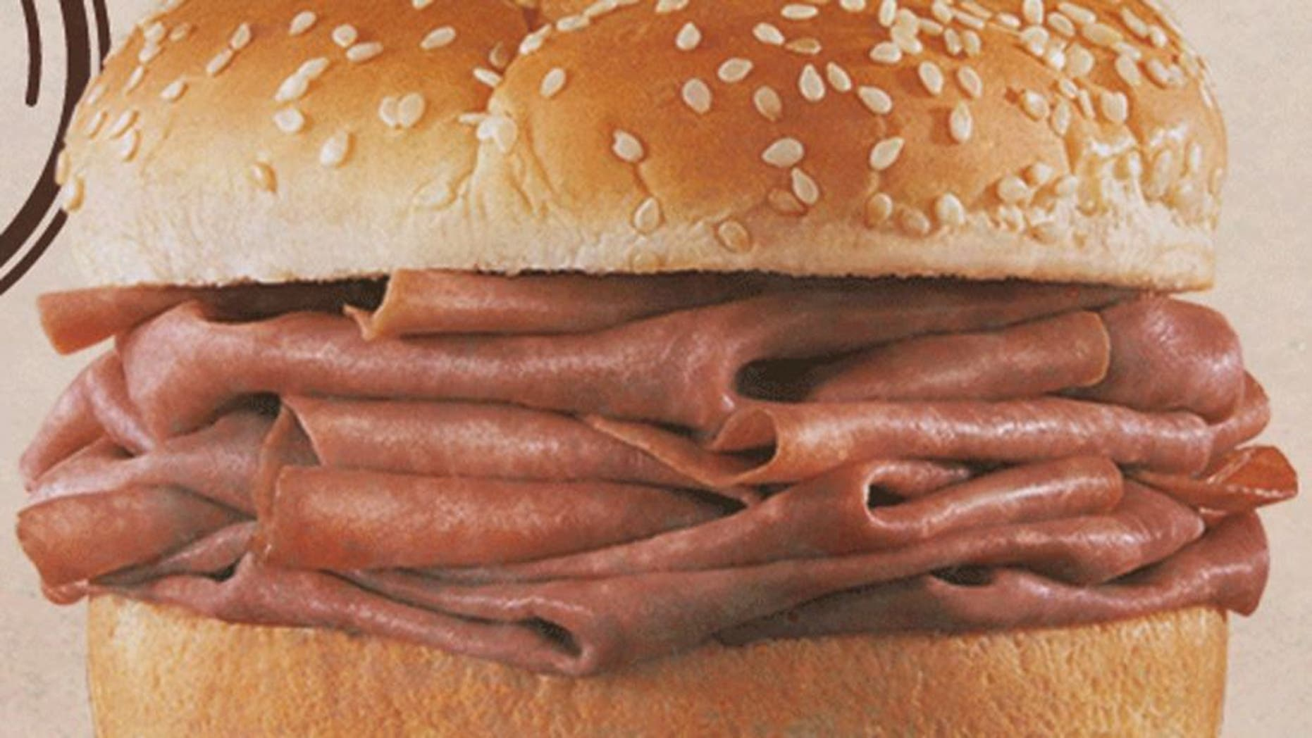 An Alabama police sergeant said he bit into an Arby's Classic Roast Beef sandwich while eating during his shift last week and found a 1-inch bolt hidden inside the meat.