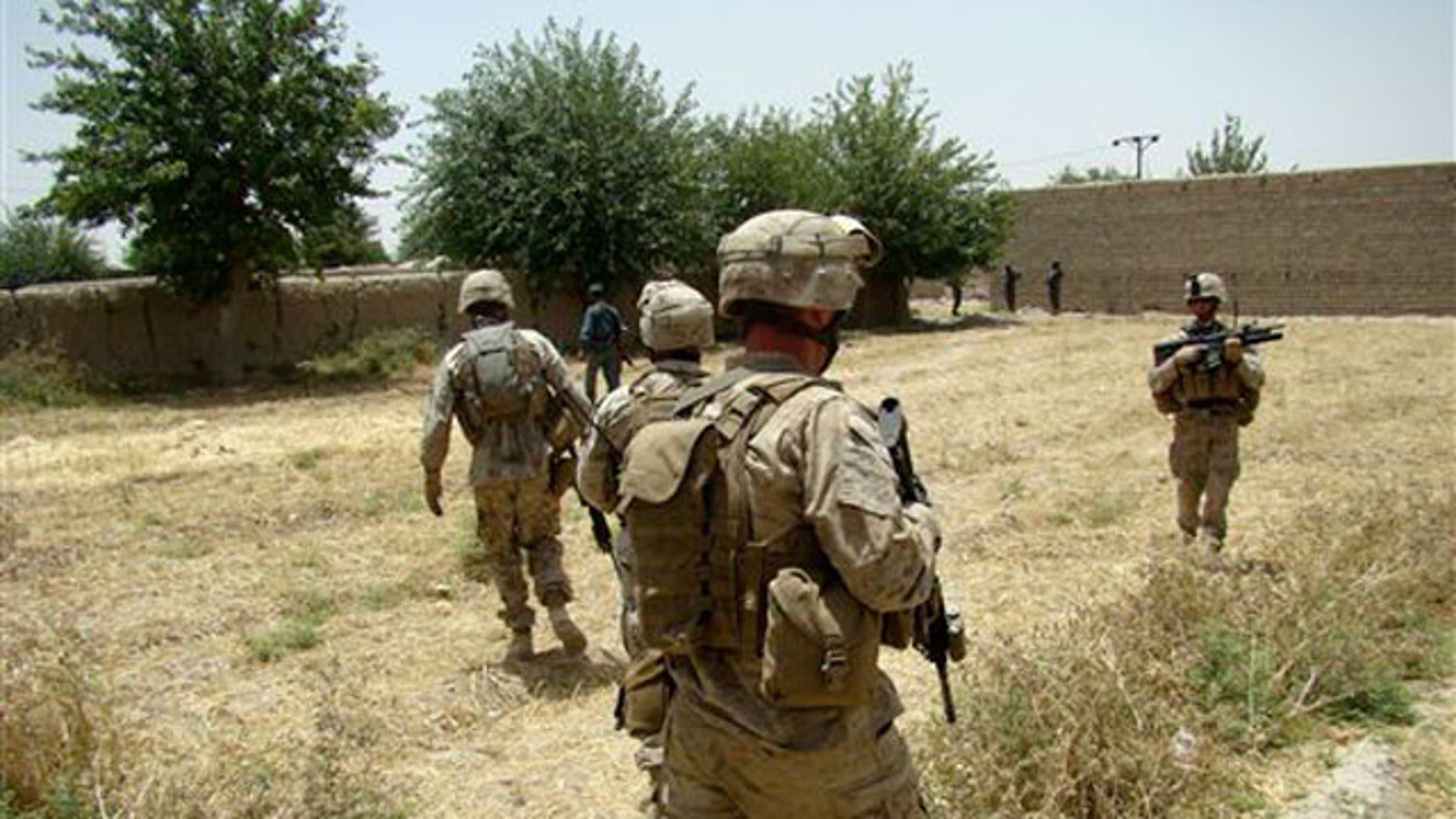 U.S. service members in Helmand Province, Afghanistan.
