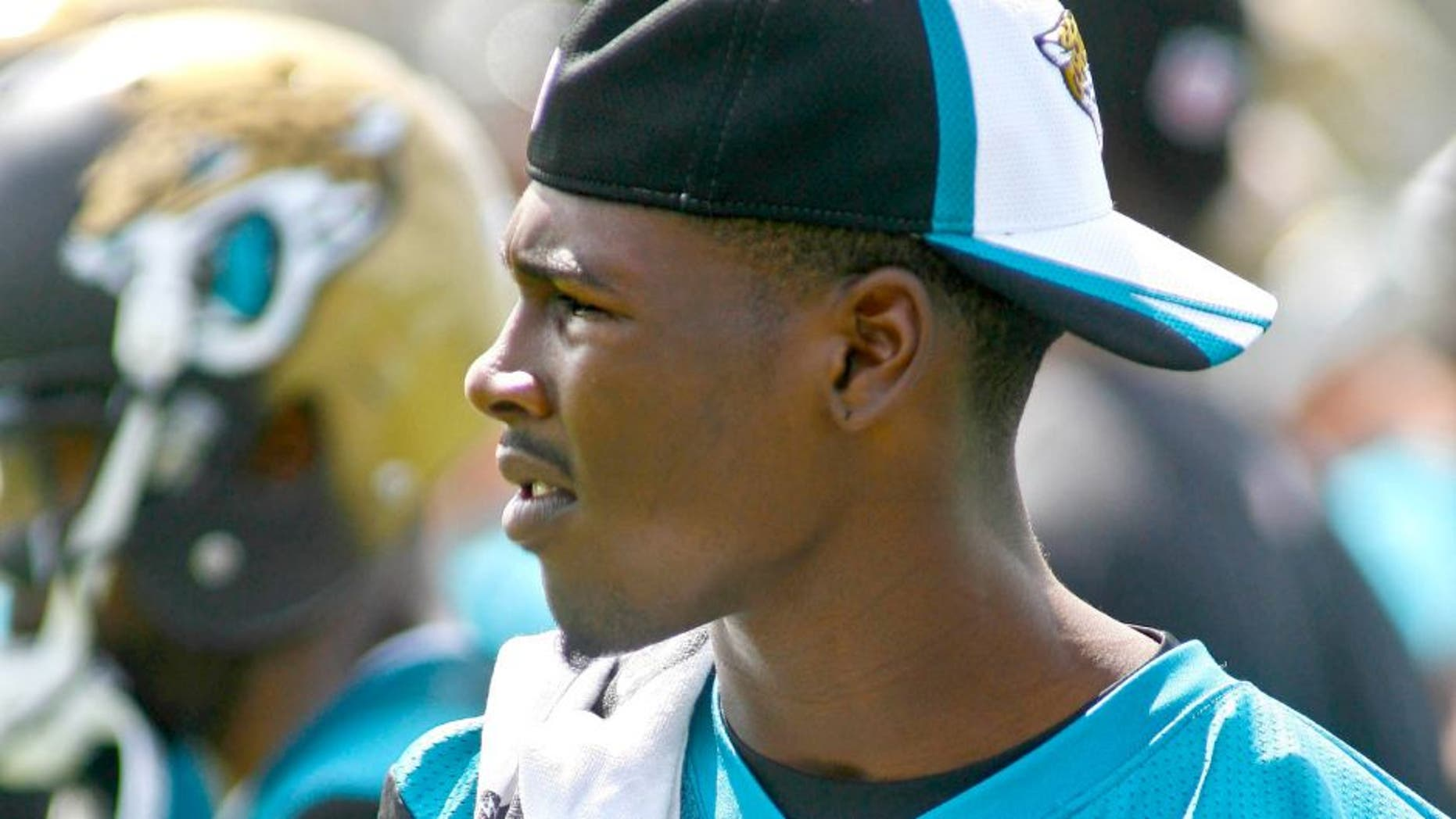May 28, 2015; Jacksonville, FL, USA; Jacksonville Jaguars wide receiver Marqise Lee (11) during OTAs at the Florida Blue Health and Wellness Practice Fields. Mandatory Credit: Phil Sears-USA TODAY Sports