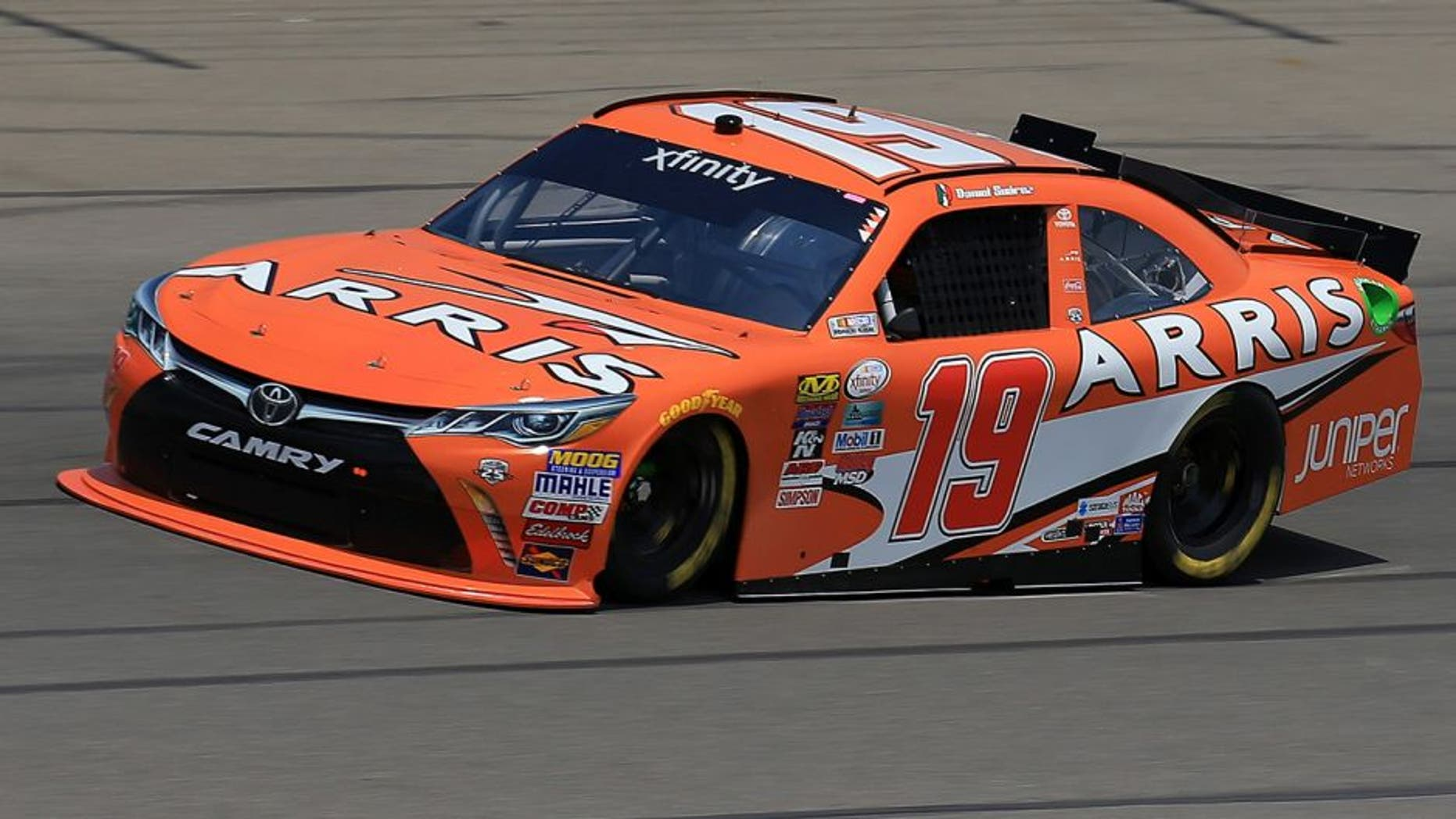 BROOKLYN, MI - JUNE 10: Daniel Suarez, driver of the #19 ARRIS Toyota, drives during practice for the NASCAR XFINITY Series Menards 250 at Michigan International Speedway on June 11, 2016 in Brooklyn, Michigan. (Photo by Daniel Shirey/NASCAR via Getty Images)