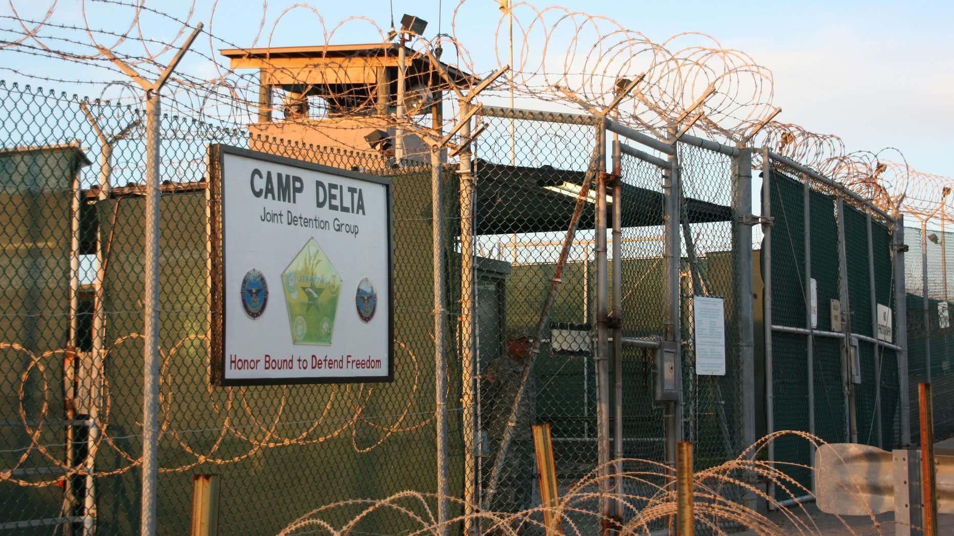 June 24, 2010: the entrance to Camp Delta at Guantanamo Bay.