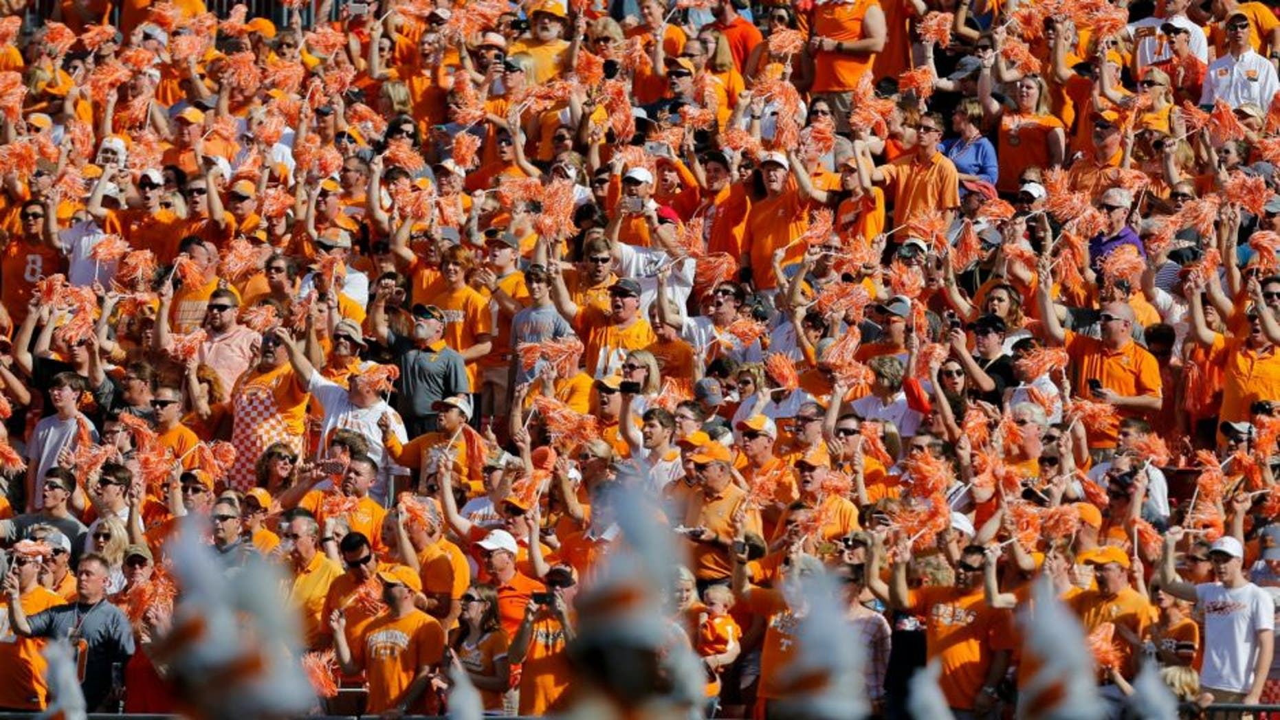 TAMPA, FL - JANUARY 1: Tennessee Volunteers fans during the Outback Bowl at Raymond James Stadium on January 1, 2016 in Tampa, Florida. (Photo by Mike Carlson/Getty Images)
