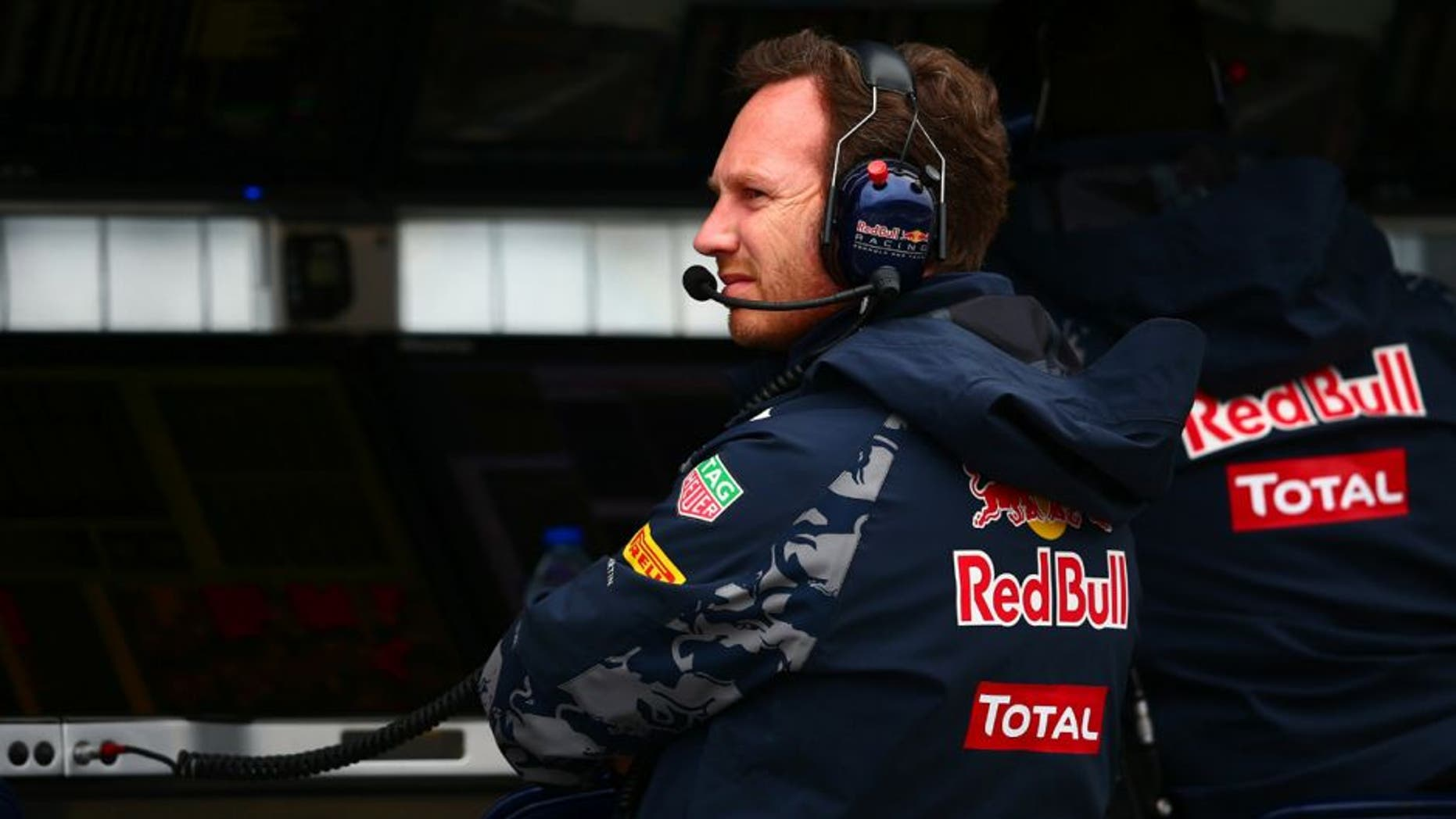 MONTREAL, QC - JUNE 11: Red Bull Racing Team Principal Christian Horner looks on from the pit wall during final practice ahead of the Canadian Formula One Grand Prix at Circuit Gilles Villeneuve on June 11, 2016 in Montreal, Canada. (Photo by Dan Istitene/Getty Images)
