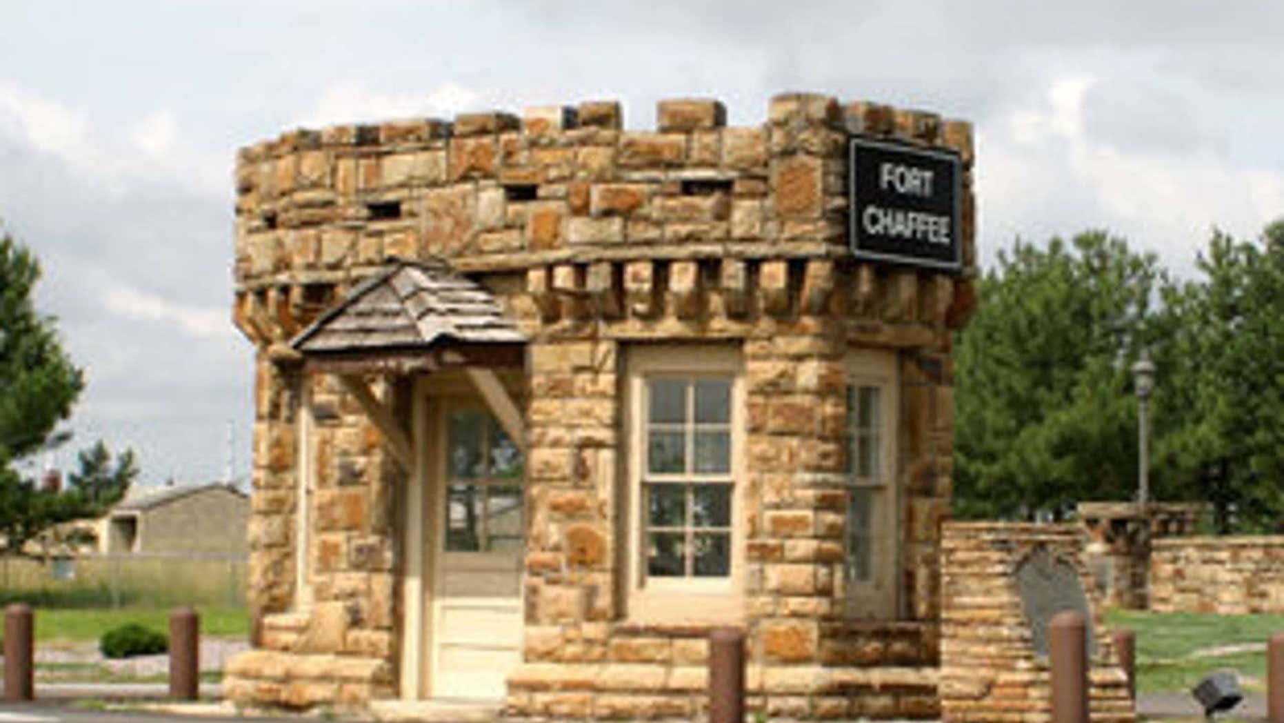 Fort Chaffee in Arkansas.