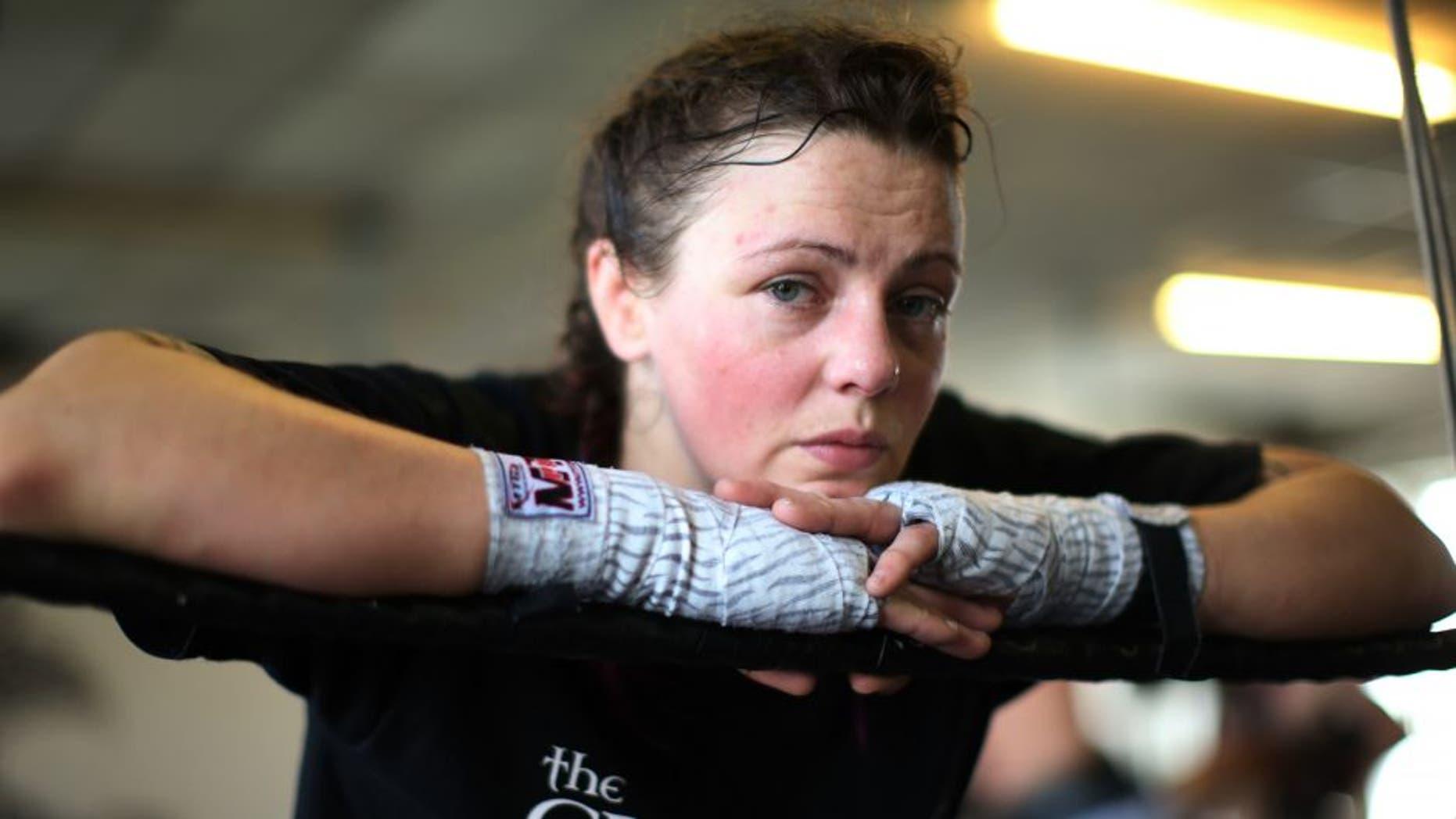 GLASGOW, SCOTLAND - MAY 28: Joanne Calderwood poses at the Grip House Gym on May 28, 2015 Glasgow, Scotland. (Photo by Ian MacNicol/Zuffa LLC via Getty Images)