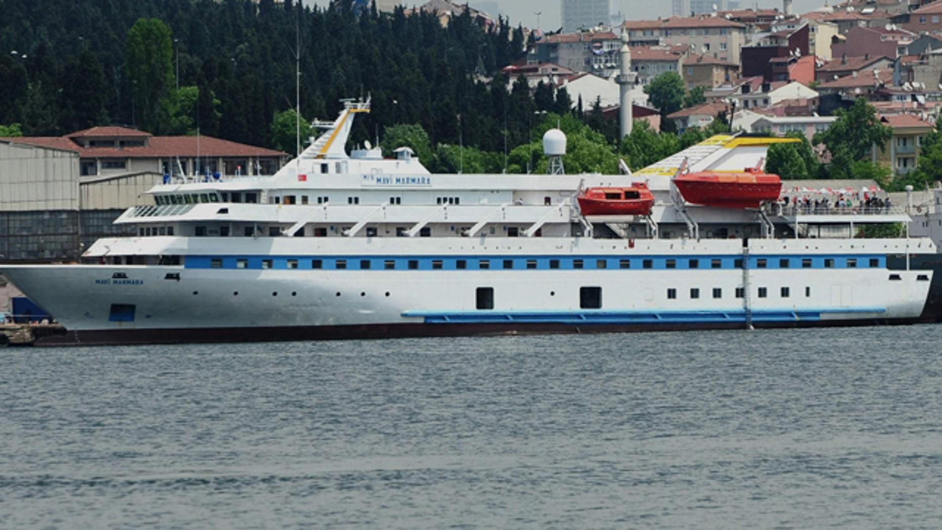 May 30: Turkish aid ship, the Mavi Marmara, is seen in Istanbul, Turkey.