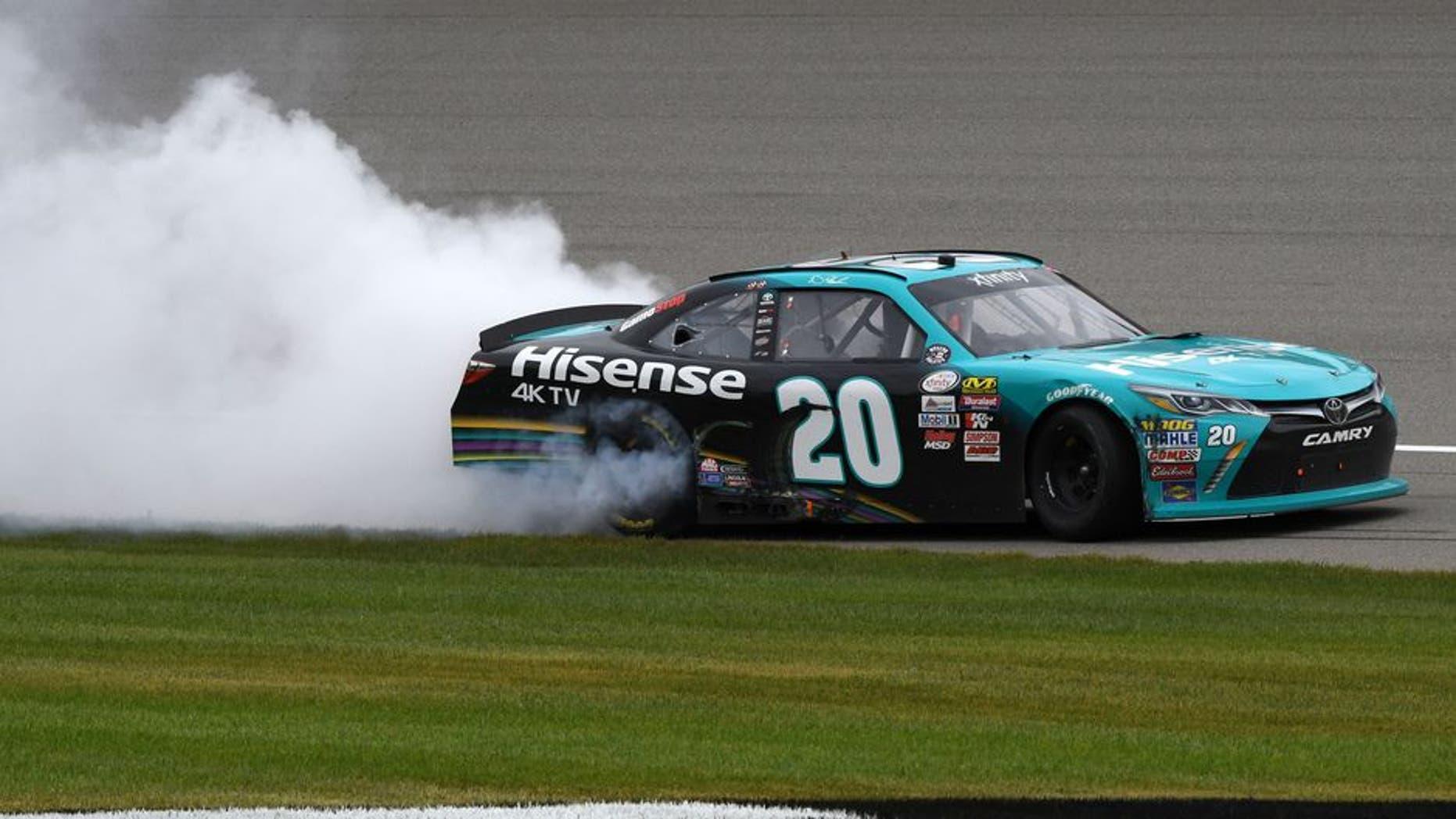 No  20 XFINITY Series win at Michigan encumbered by illegal splitter