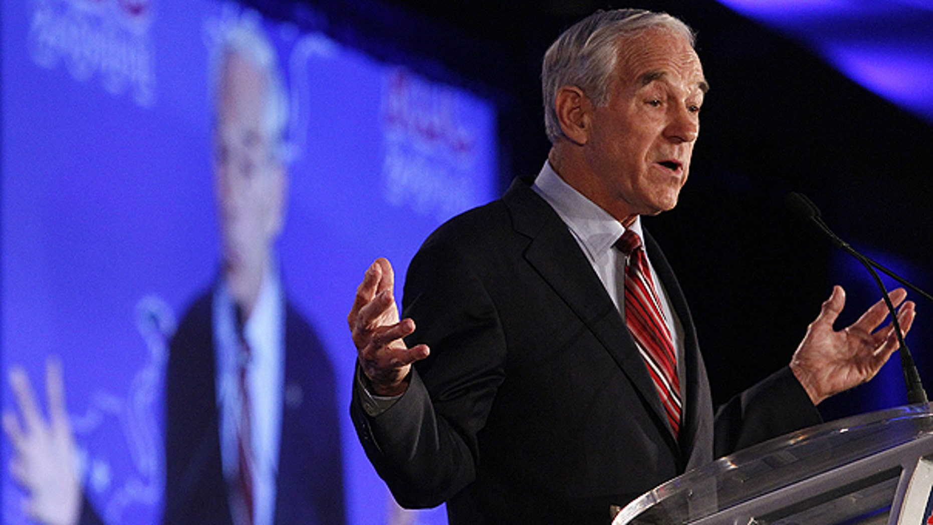 June 17: Republican presidential hopeful, Rep. Ron Paul, R-Texas, speaks at the Republican Leadership Conference in New Orleans.