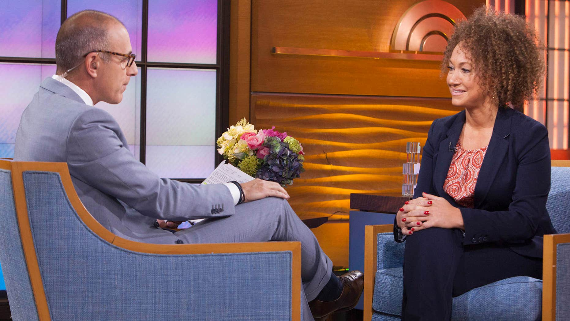 """June 16, 2015: In this image released by NBC News, former NAACP leader Rachel Dolezal appears on the """"Today"""" show during an interview with co-host Matt Lauer."""