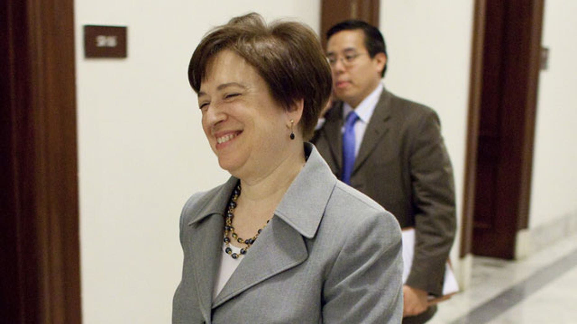 May 25: Supreme Court nominee Elena Kagan walks on Capitol Hill in Washington.