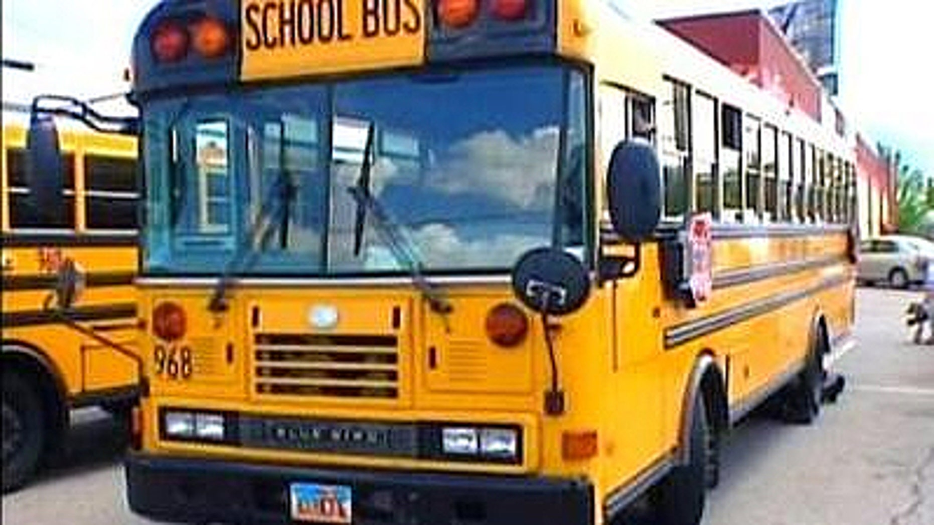 This photo shows a school bus from Granite School District in Utah.