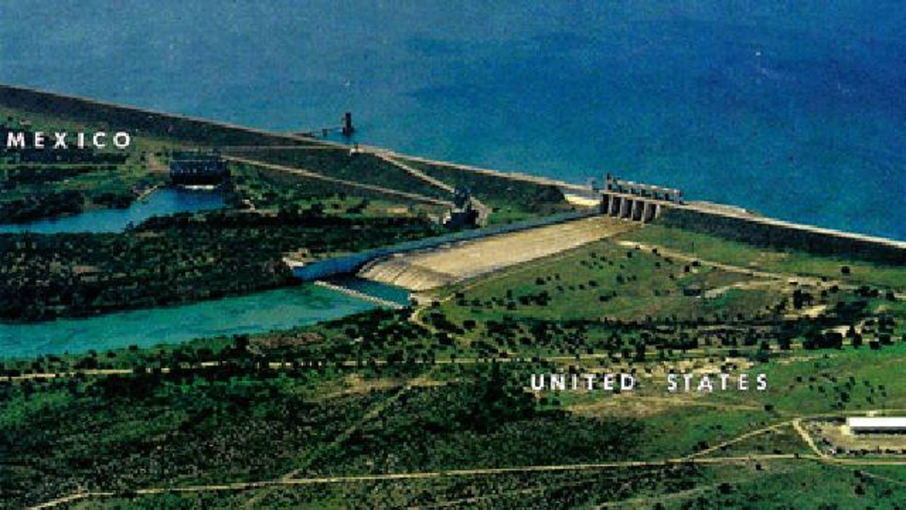 Falcon Dam in south Texas is the lowermost major multipurpose international dam and reservoir on the Rio Grande River.