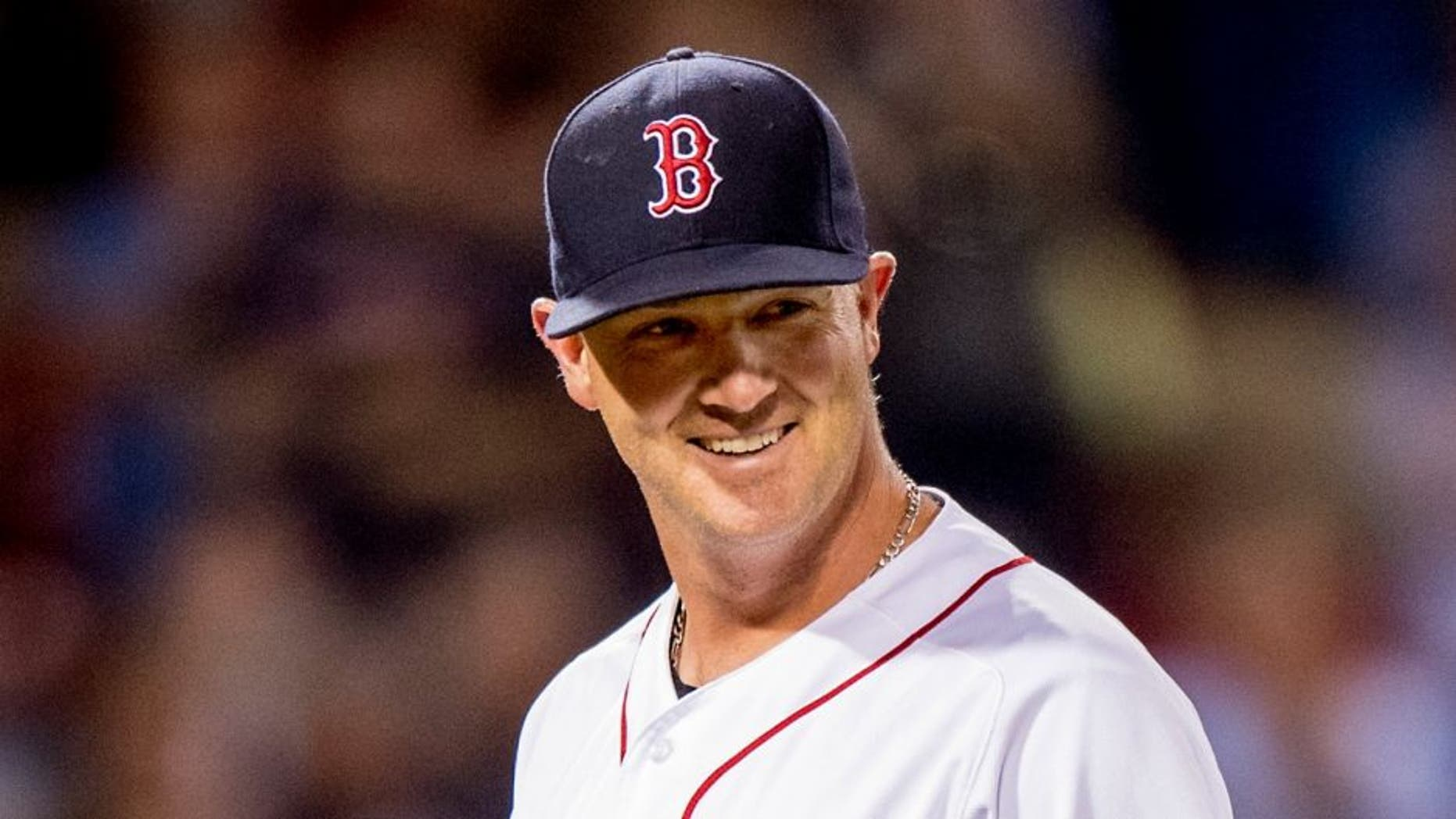 BOSTON, MA - JUNE 15: Steven Wright #35 of the Boston Red Sox reacts as he exits the game during the eighth inning of a game against the Baltimore Orioles on June 15, 2016 at Fenway Park in Boston, Massachusetts. (Photo by Billie Weiss/Boston Red Sox/Getty Images) *** Local Caption *** Steven Wright,BOSTON, MA - JUNE 15: Steven Wright #35 of the Boston Red Sox reacts as he exits the game during the eighth inning of a game against the Baltimore Orioles on June 15, 2016 at Fenway Park in Boston, Massachusetts. (Photo by Billie Weiss/Boston Red Sox/Getty Images)