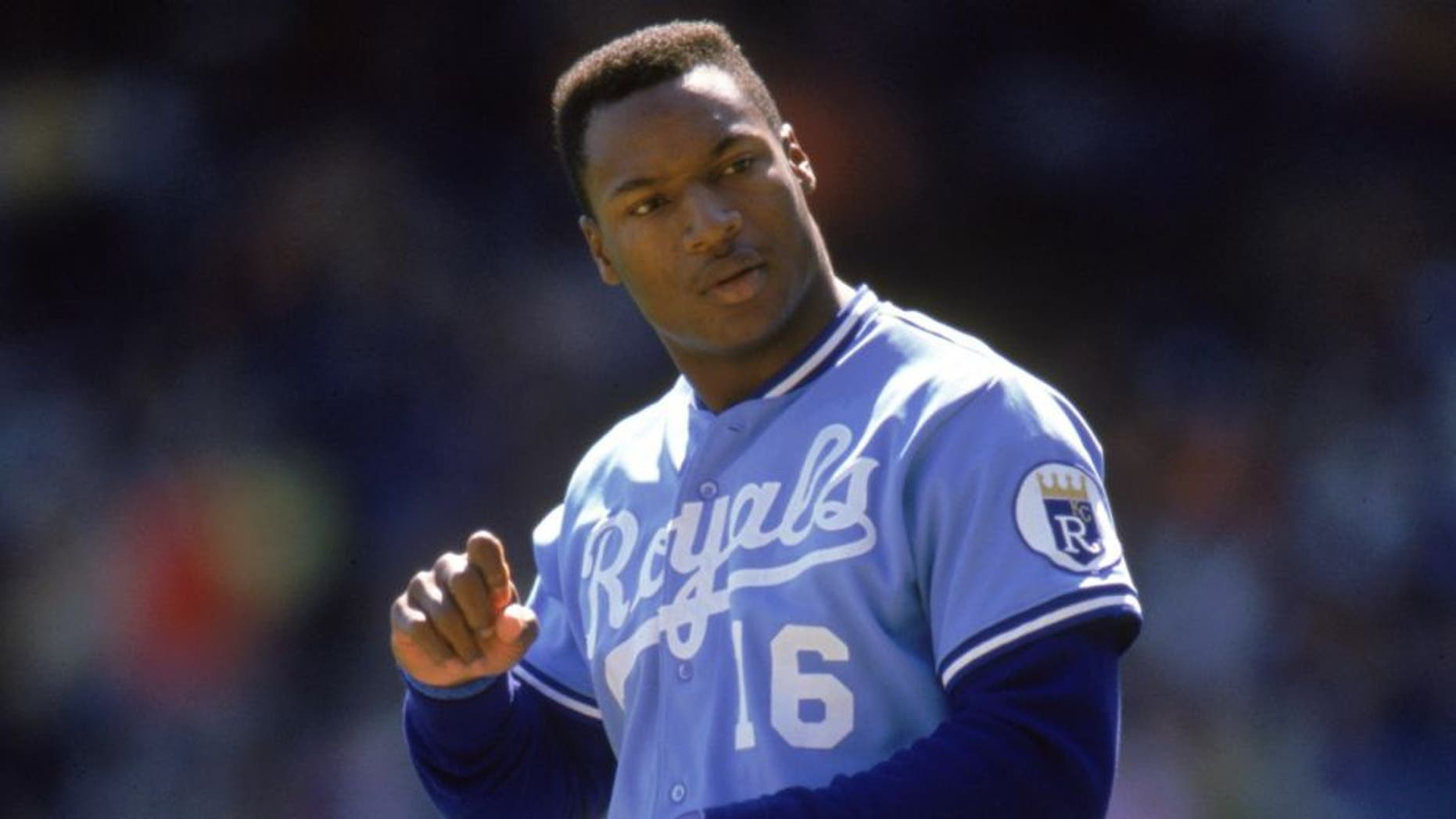 UNDATED: Bo Jackson #16 of the Kansas City Royals walks off the field during a season game. Bo Jackson played for the Kansas City Royals from 1986-1990. (Photo by: Ron Vesely/Getty Images) *** Local Caption *** Bo Jackson