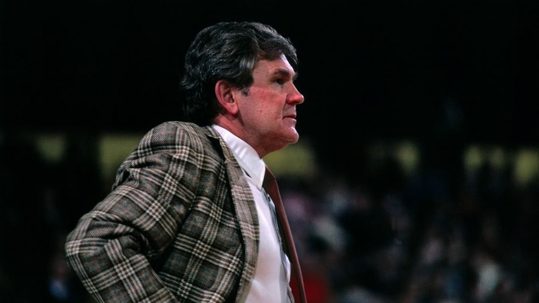 BOSTON - 1980: Head coach Bill Fitch of the Boston Celtics stands on the sideline during a game played in 1980 at the Boston Garden in Boston, Massachusetts. NOTE TO USER: User expressly acknowledges and agrees that, by downloading and or using this photograph, User is consenting to the terms and conditions of the Getty Images License Agreement. Mandatory Copyright Notice: Copyright 1980 NBAE (Photo by Dick Raphael/NBAE via Getty Images)
